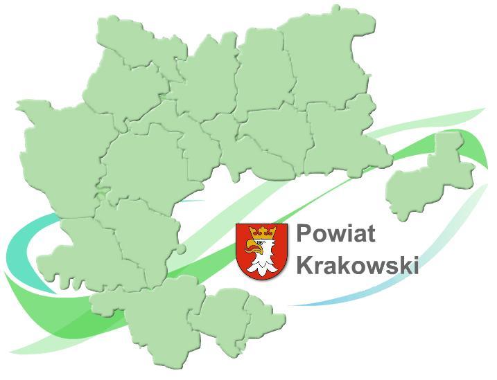 Mapka Gmin Powiat Krakowski