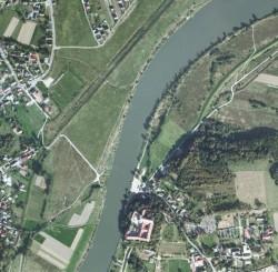 Zdjęcie satelitarne Wisły w okolicy Piekar