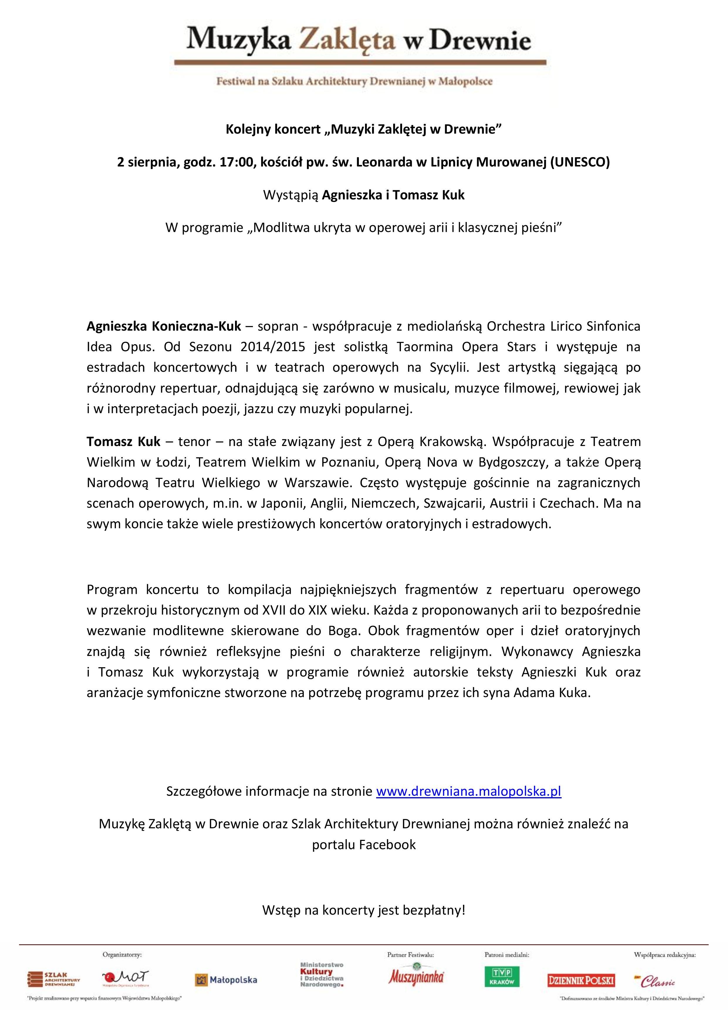 Muzyka Zaklęta w Drewnie @ Kościół św. Leonarda | Lipnica Murowana | małopolskie | Polska