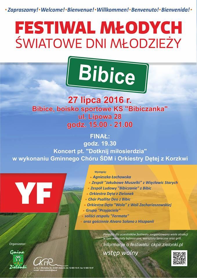 Festiwal Młodych w Bibicach @ KS Bibiczanka | Bibice | małopolskie | Polska