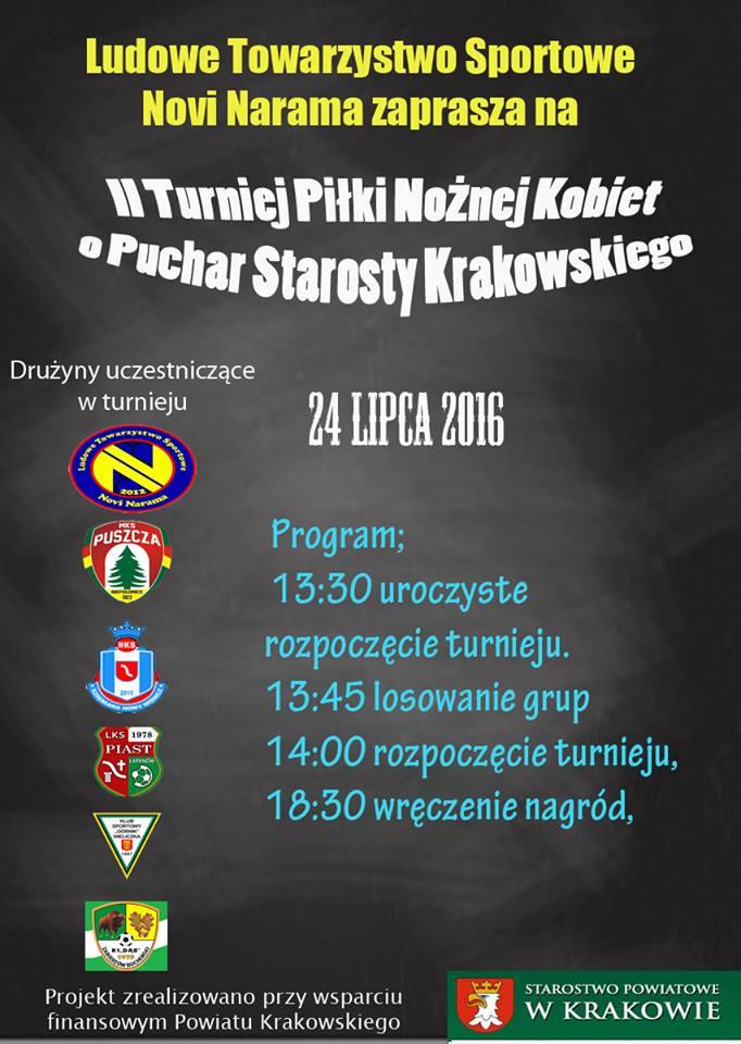 II Turniej Piłki Nożnej Kobiet o Puchar Starosty Krakowskiego @ Boisko NOVI Narama | Narama | małopolskie | Polska