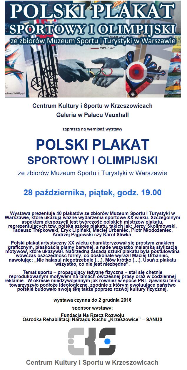 Polski Plakat Sportowy i Olimpijski @ Galeria w Pałacu Vauxhall | Krzeszowice | małopolskie | Polska