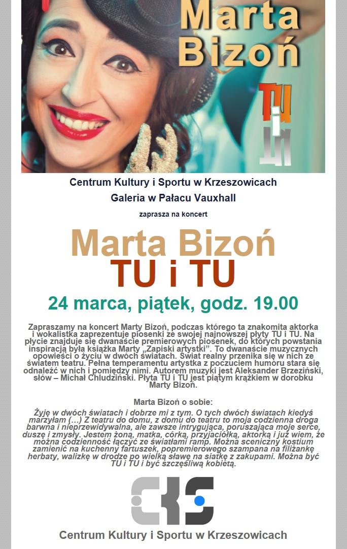 Marta Bizoń Tu i Tu @ Pałac Vauxhall - CKiS Krzeszowice | małopolskie | Polska