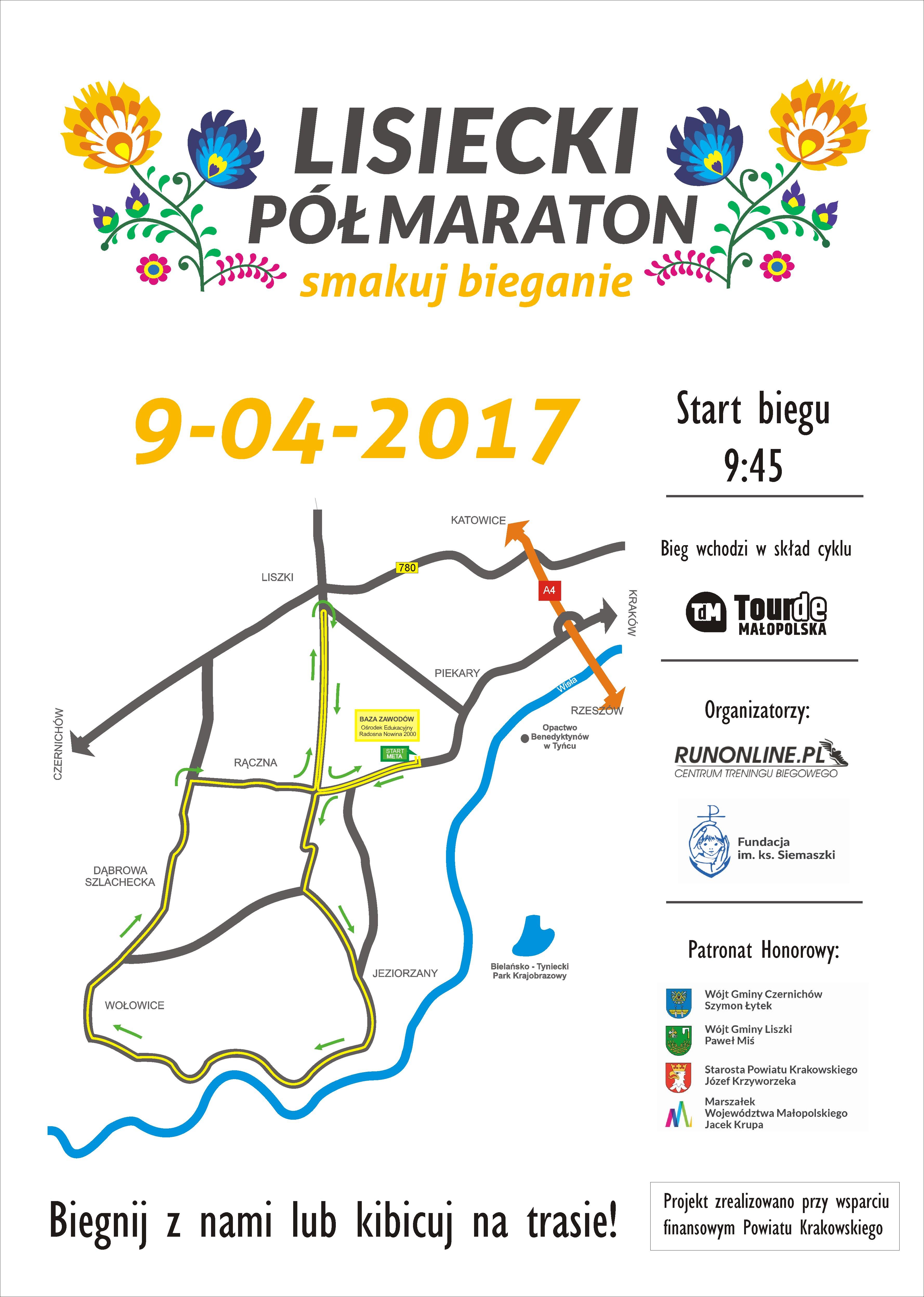 Lisiecki Półmaraton @ Centrum Edukacyjne Radosna Nowina | Liszki | małopolskie | Polska