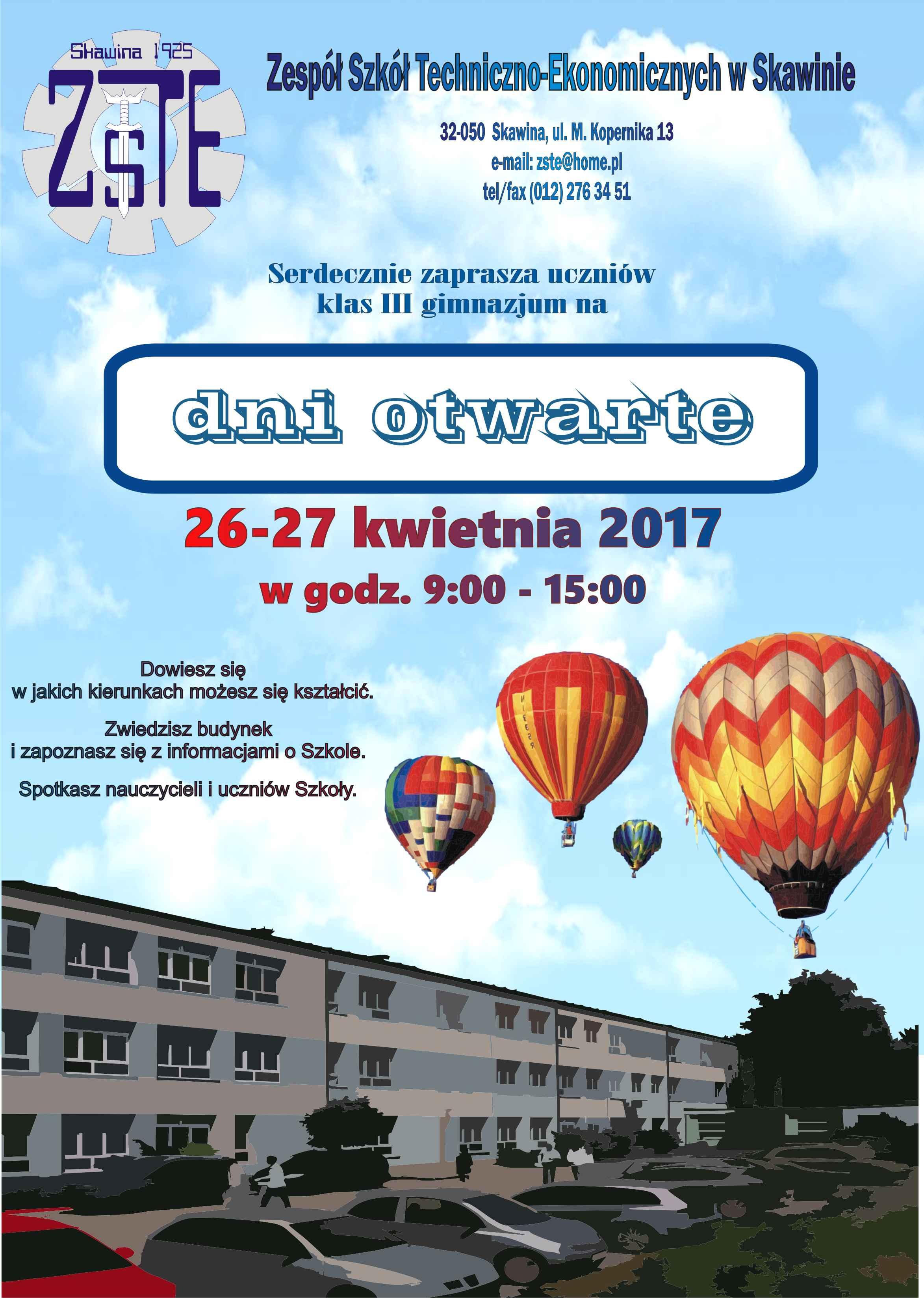 Dni Otwarte w Zespole Szkół Techniczno-Ekonomicznych w Skawinie @ ZSTE w Skawinie | Skawina | małopolskie | Polska