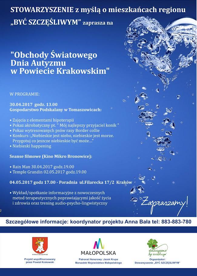 Obchody Światowego Dnia Autyzmu w Powiecie Krakowskim