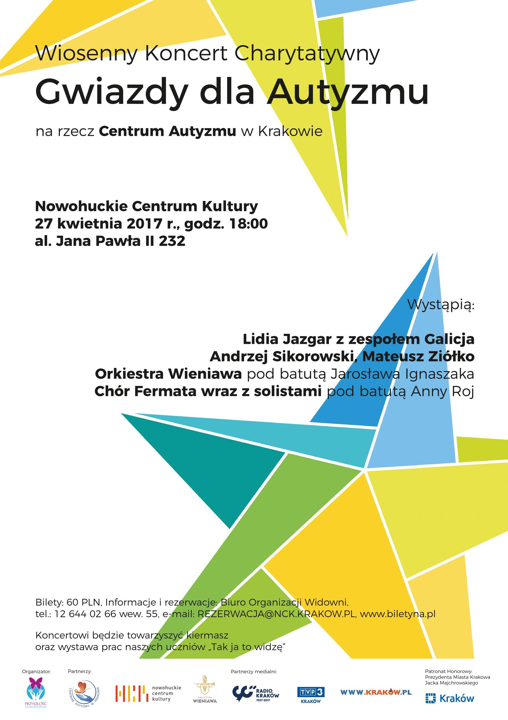 Wiosenny Koncert Charytatywny Gwiazdy dla Autyzmu @ Nowohuckie Centrum Kultury | Kraków | małopolskie | Polska