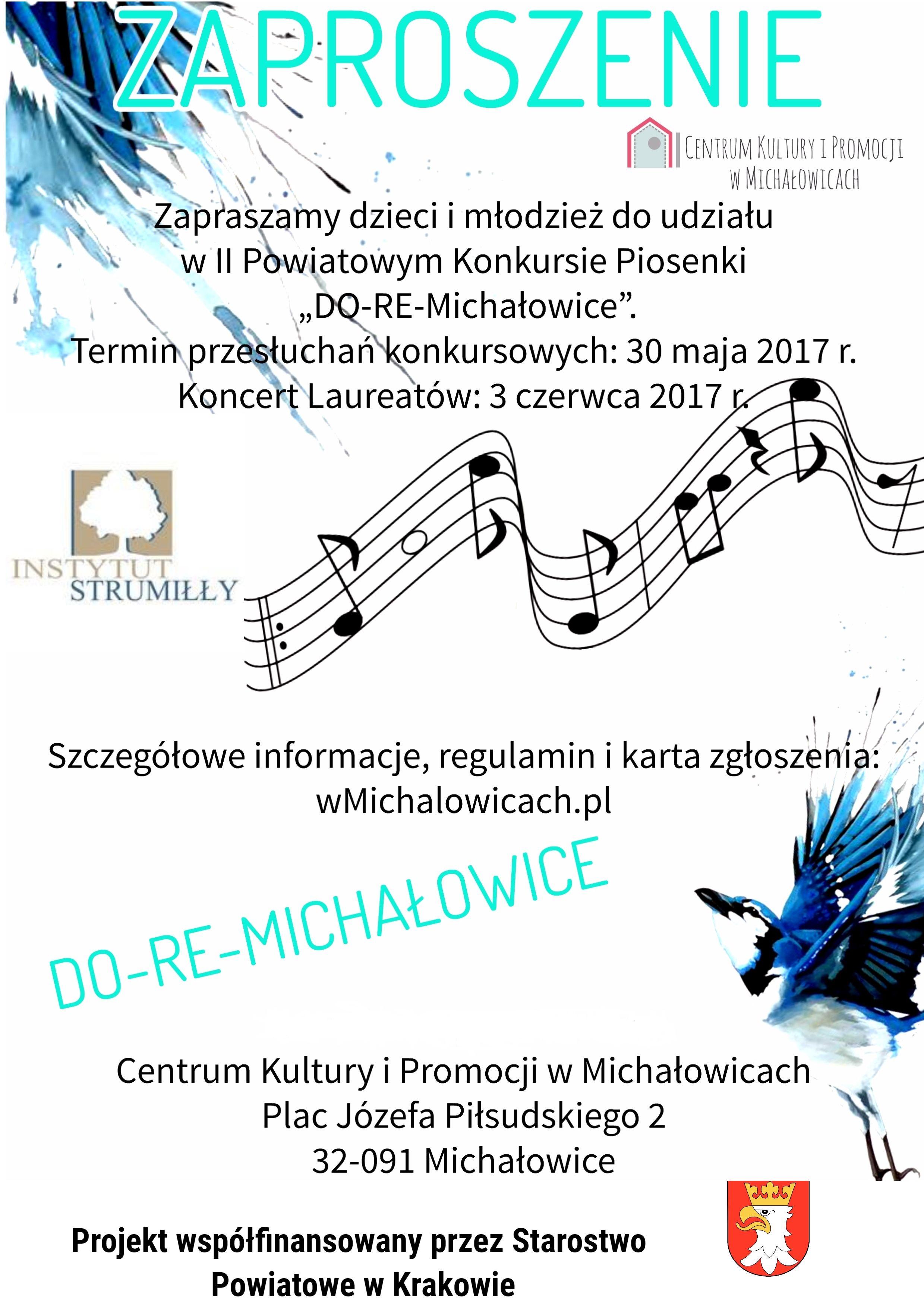 II Powiatowy Konkurs Piosenki DO-RE-MICHAŁOWICE @ Centrum Kultury i Promocji w Michałowicach | Michałowice | małopolskie | Polska