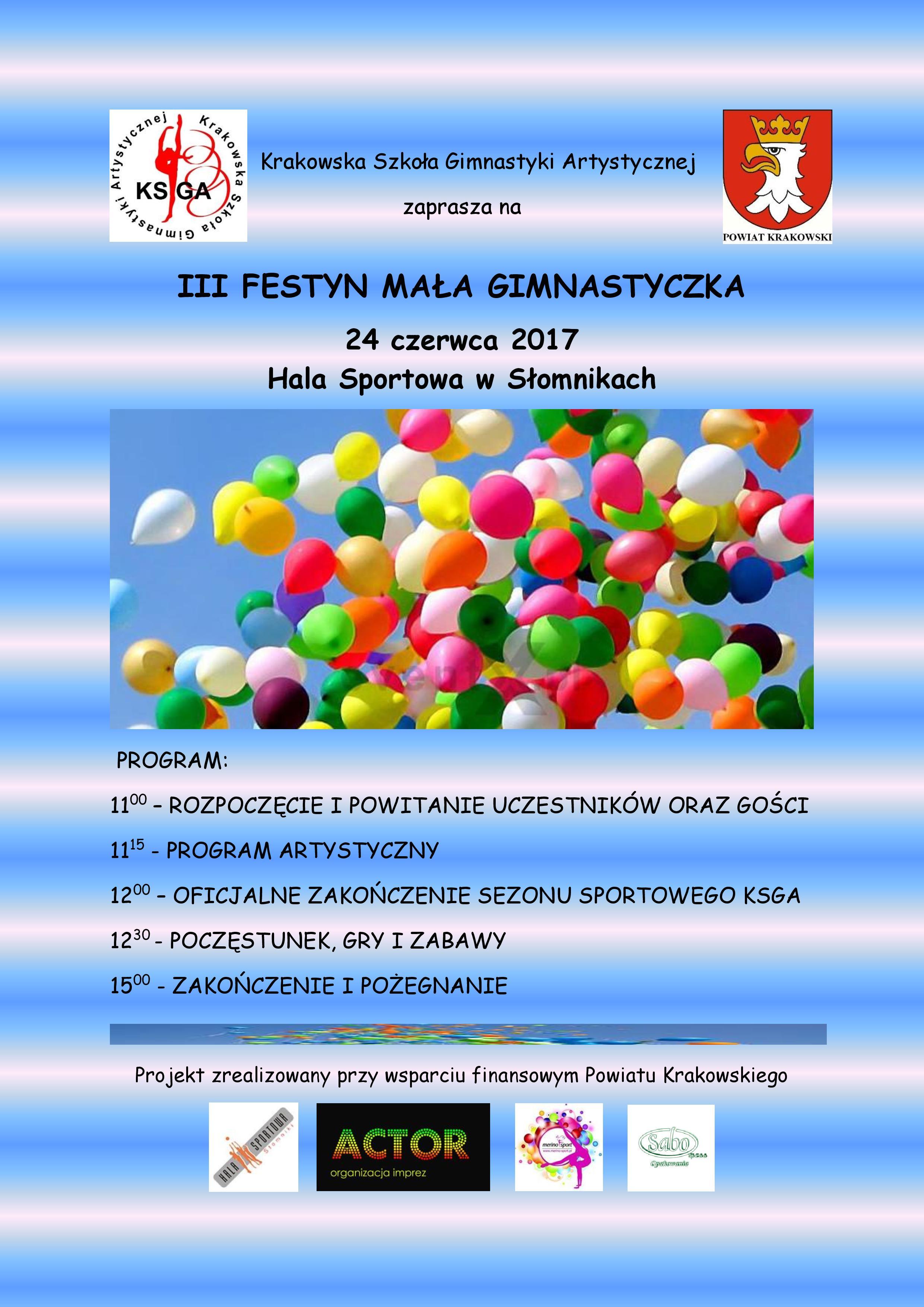 III Festyn Mała Gimnastyczka @ Hala Sportowa w Słomnikach | małopolskie | Polska