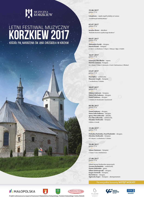 Letni Festiwal Muzyczny Korzkiew 2017 @ Kościół pw. Narodzenia Św. Jana Chrzciciela | Korzkiew | małopolskie | Polska