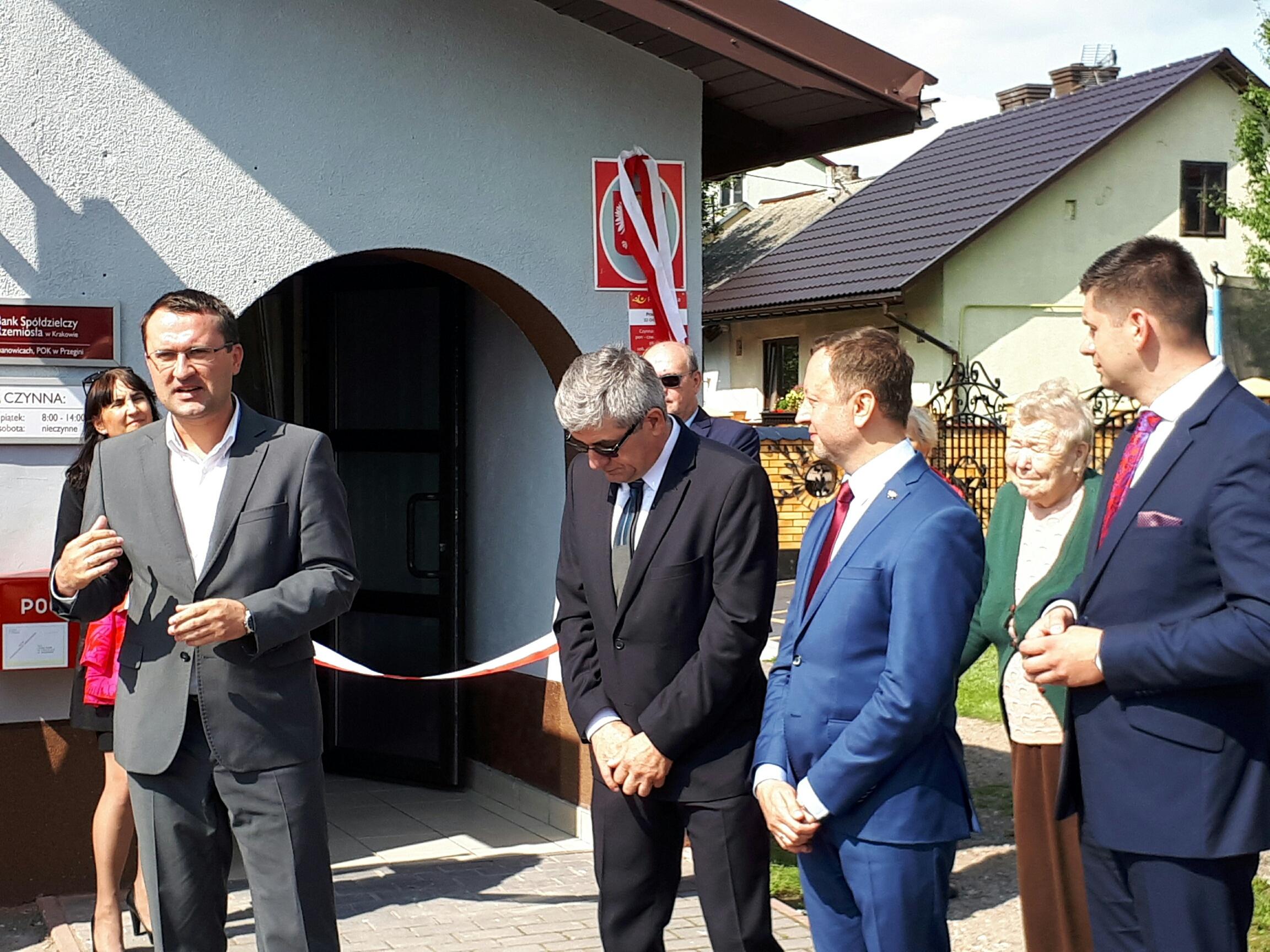 Otwarto nową placówkę Poczty Polskiej w Przeginii