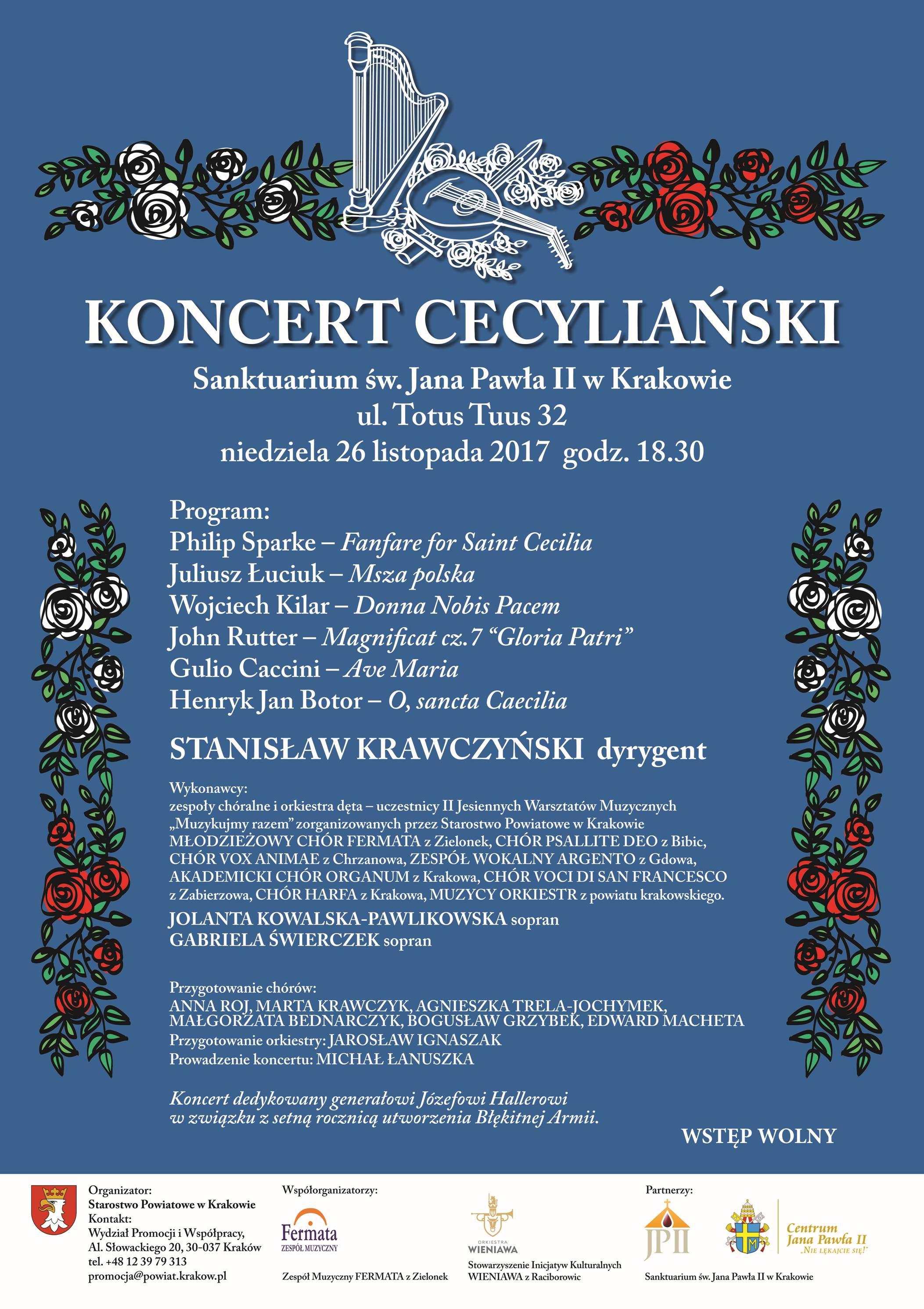 Koncert Cecyliański @ Sanktuarium Świętego Jana Pawła II w Krakowie | Kraków | małopolskie | Polska