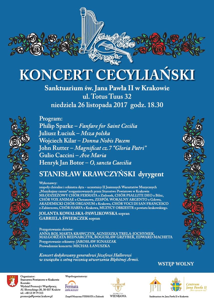 Koncert Cecyliański @ Sanktuarium Świętego Jana Pawła II w Krakowie   Kraków   małopolskie   Polska