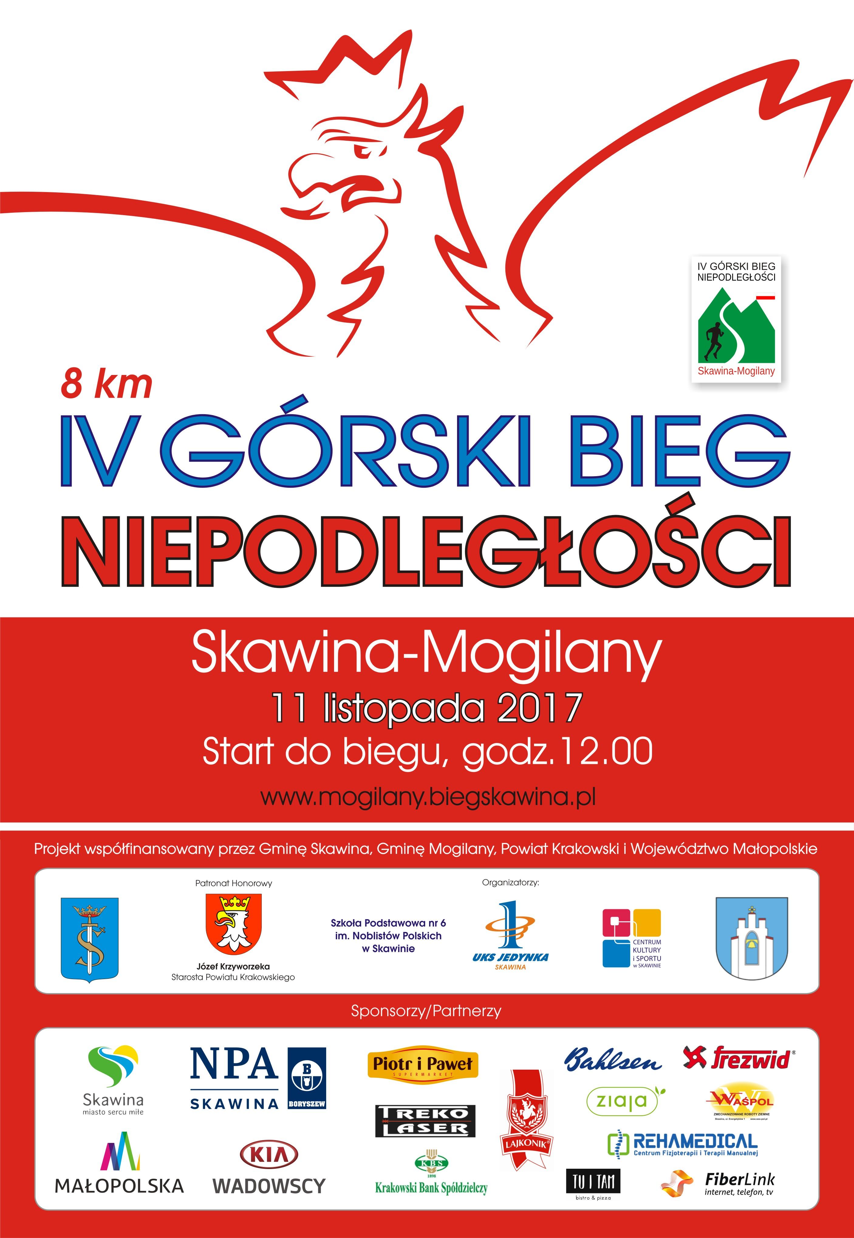 IV Górski Bieg Niepodległości @ Skawina - Mogilany | Skawina | małopolskie | Polska