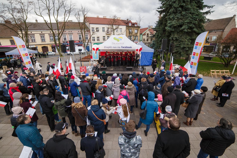 Obchody Święta Niepodległości w Skawinie fot. Jarosław Karasiński