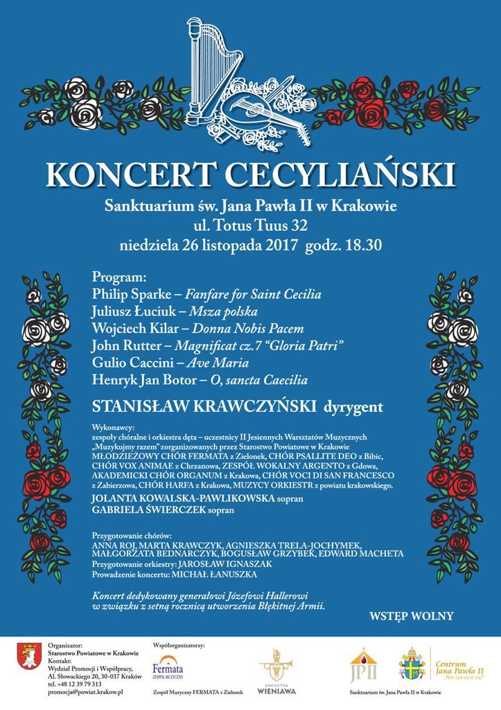 Plakat Koncert Cecyliański