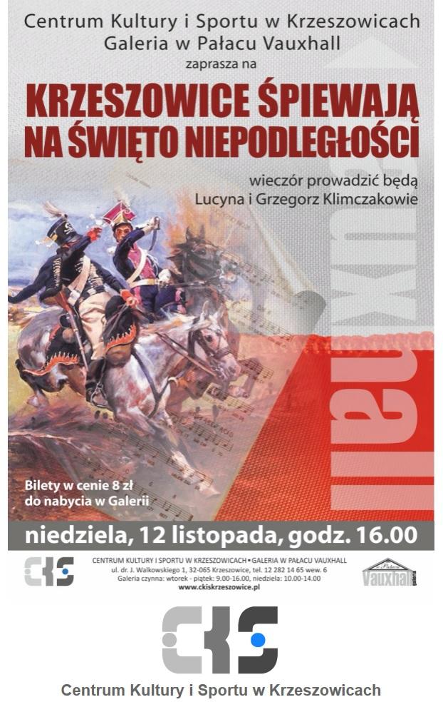 Krzeszowice Śpiewają na Święto Niepodległości @ Galeria w pałacu Vauxhall | małopolskie | Polska