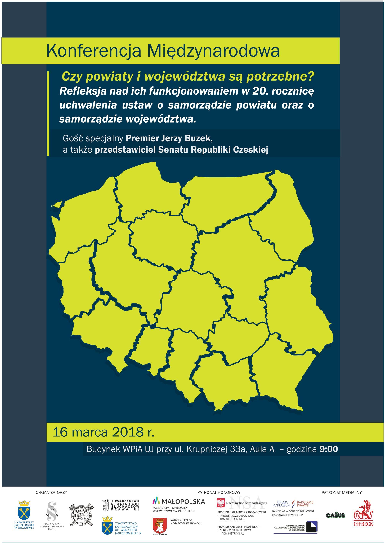 Konferencja Międzynarodowa - Czy powiaty i województwa są potrzebne? @ Budynek WPiA UJ - Aula A | Kraków | małopolskie | Polska