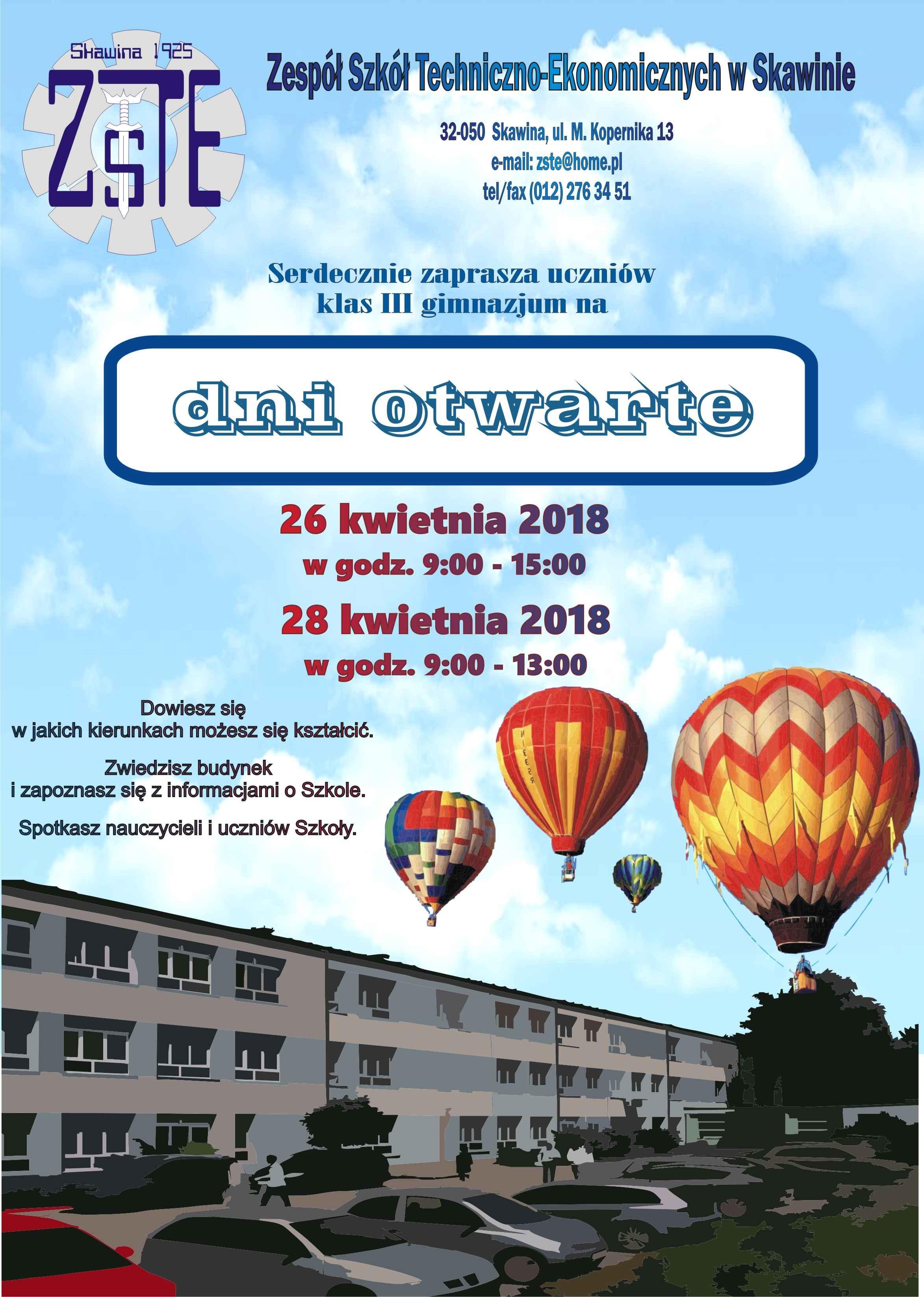 Dni otwarte w ZSTE w Skawinie @ ZSTE w Skawinie | Skawina | małopolskie | Polska