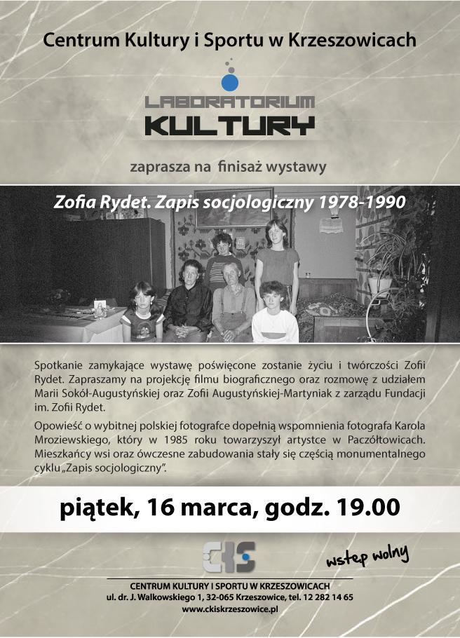 Finisaż wystawy Zofii Rydet @ CKiS Krzeszowice | Krzeszowice | małopolskie | Polska
