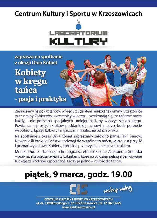 Kobiety w kręgu tańca - pasja i praktyka @ CKiS Krzeszowice | Krzeszowice | małopolskie | Polska