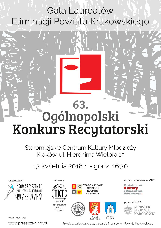 63. Ogólnopolski Konkurs Recytatorski - Gala Laureatów @ Staromiejskie Centrum Kultury Młodzieży | Kraków | małopolskie | Polska