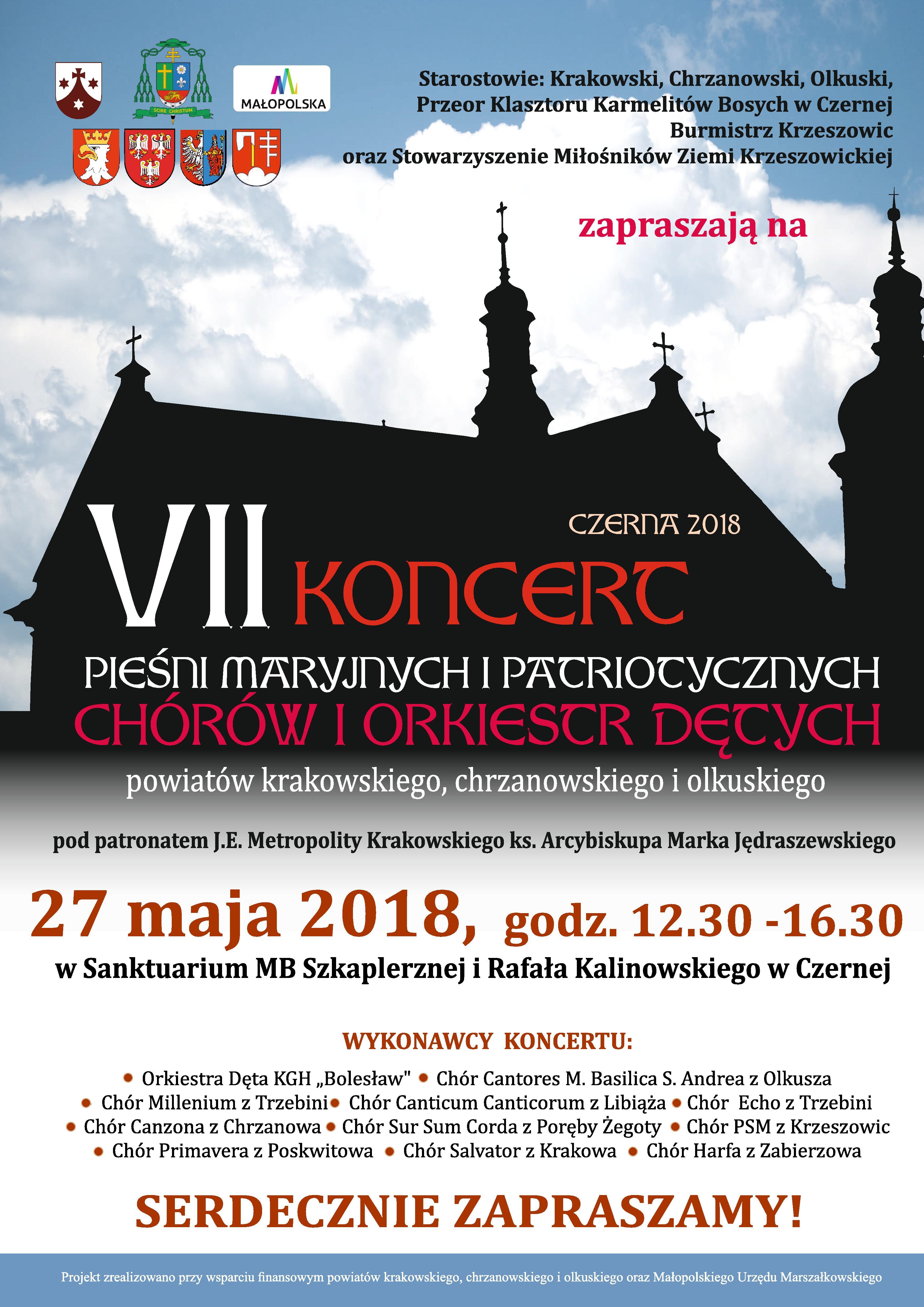 VII Koncert Pieśni Maryjnych i Patriotycznych w Czernej @ Sanktuarium MB Szkaplerznej i Rafała Kalinowskiego | Czerna | małopolskie | Polska