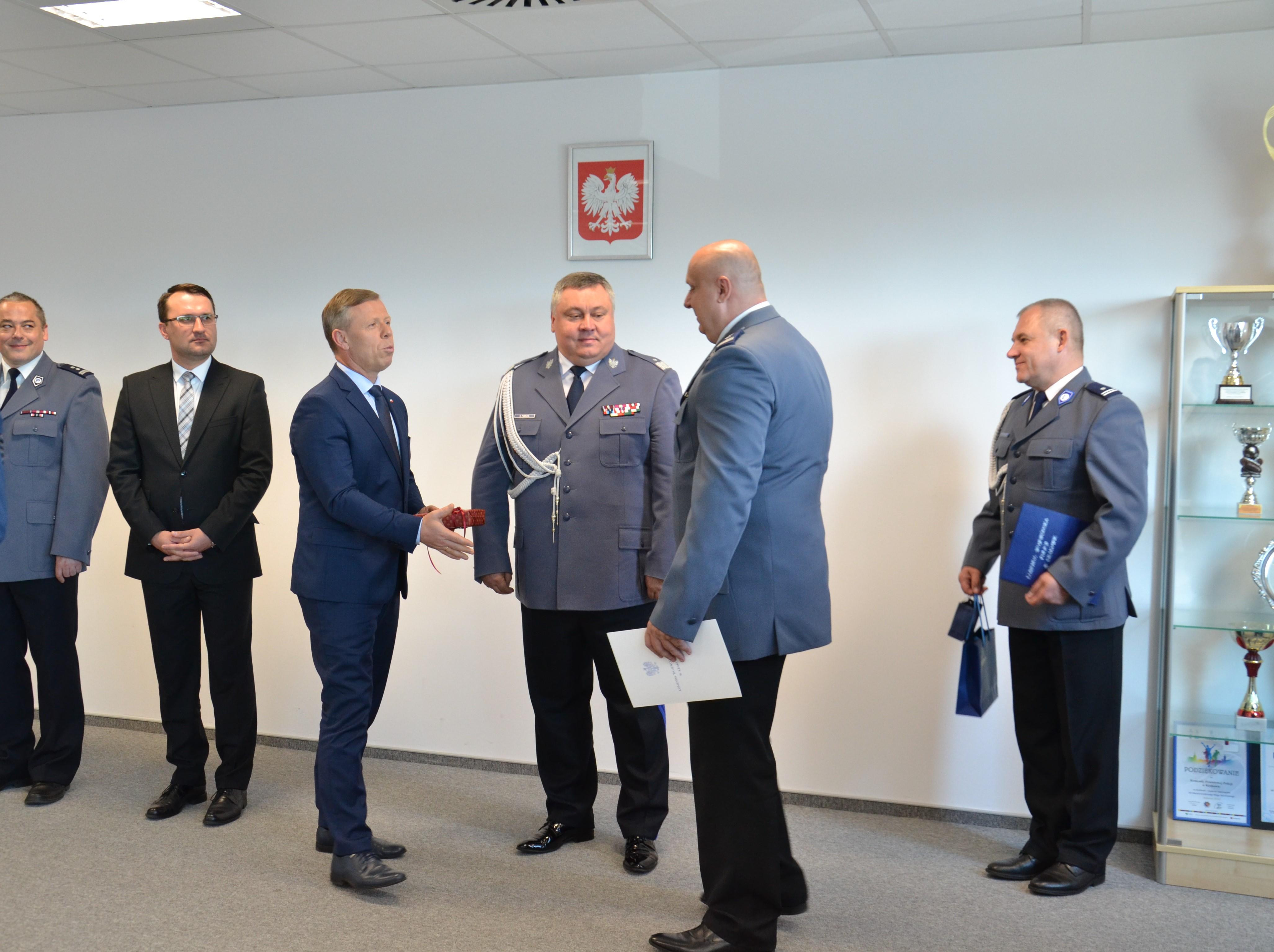Uroczyste mianowanie mł.insp. Tomasza Drożdżaka na Komendanta Powiatowego Policji w Krakowie