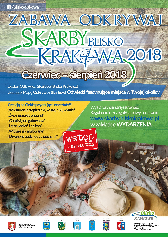 Zabawa Odkrywaj Skarby Blisko Krakowa 2018 @ Powiat Krakowski