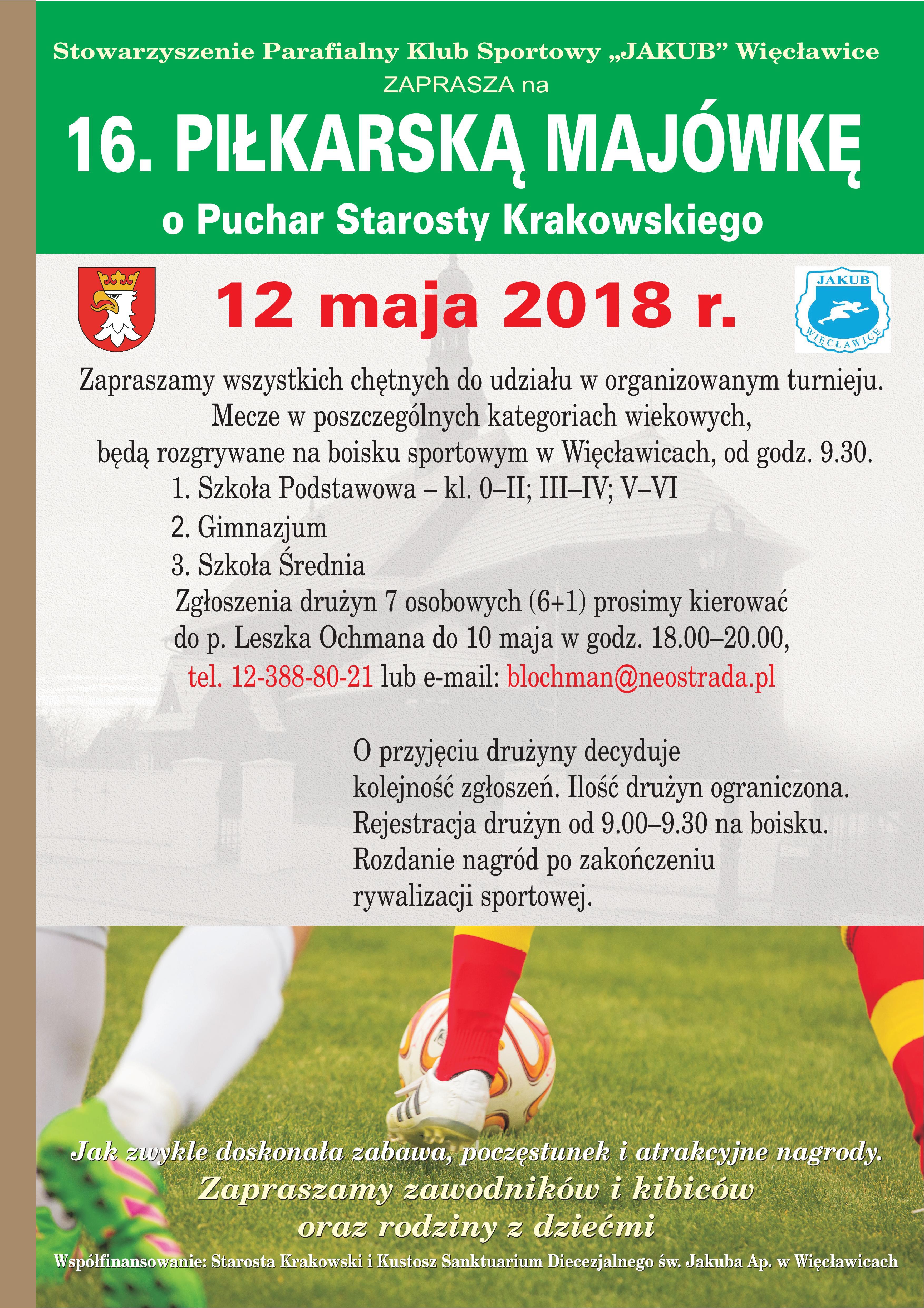 16. Piłkarska Majówka @ Boisko w Więcławicach | Więcławice Stare | małopolskie | Polska