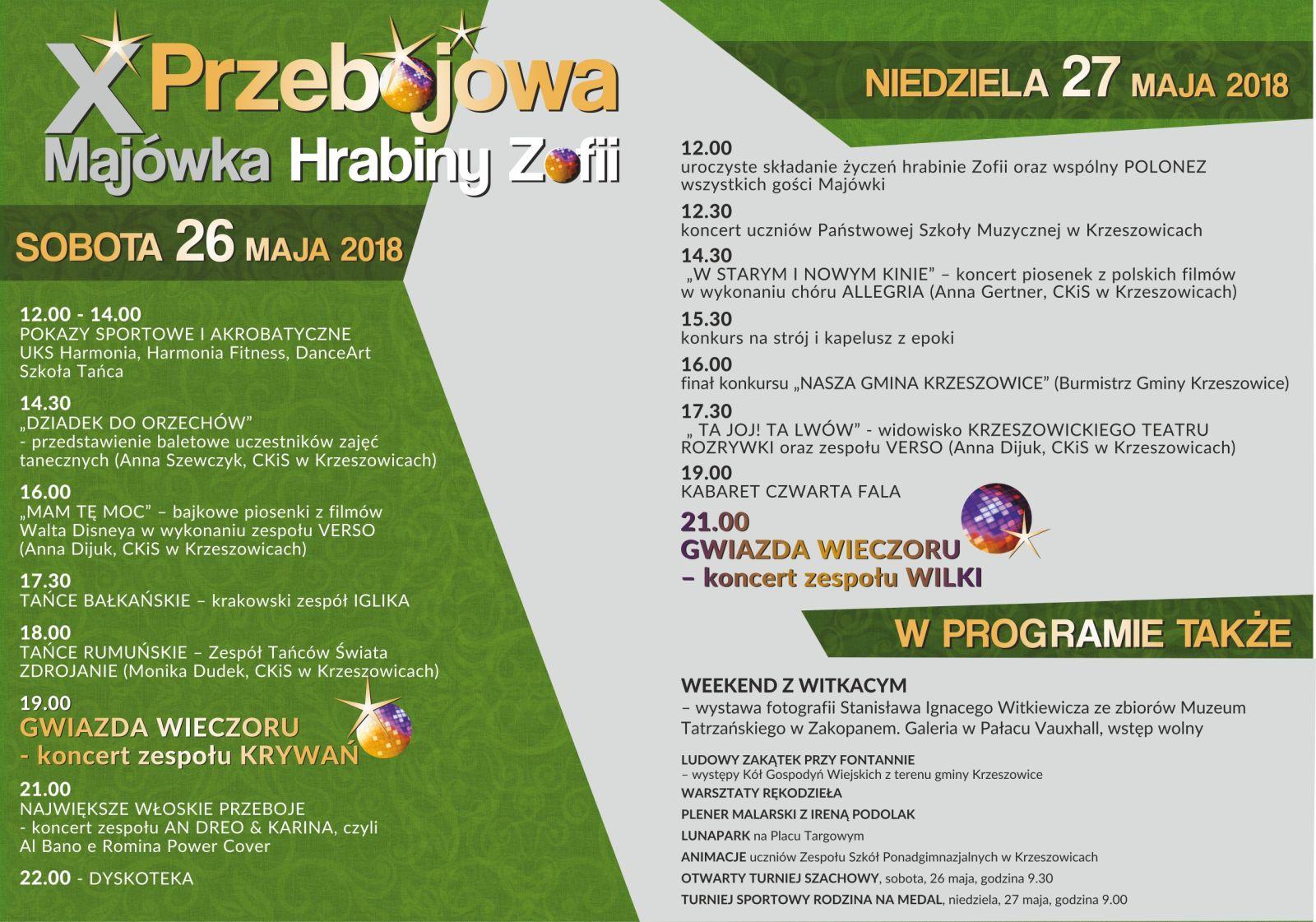 X Przebojowa Majówka Hrabiny Zofii @ Krzeszowice | małopolskie | Polska