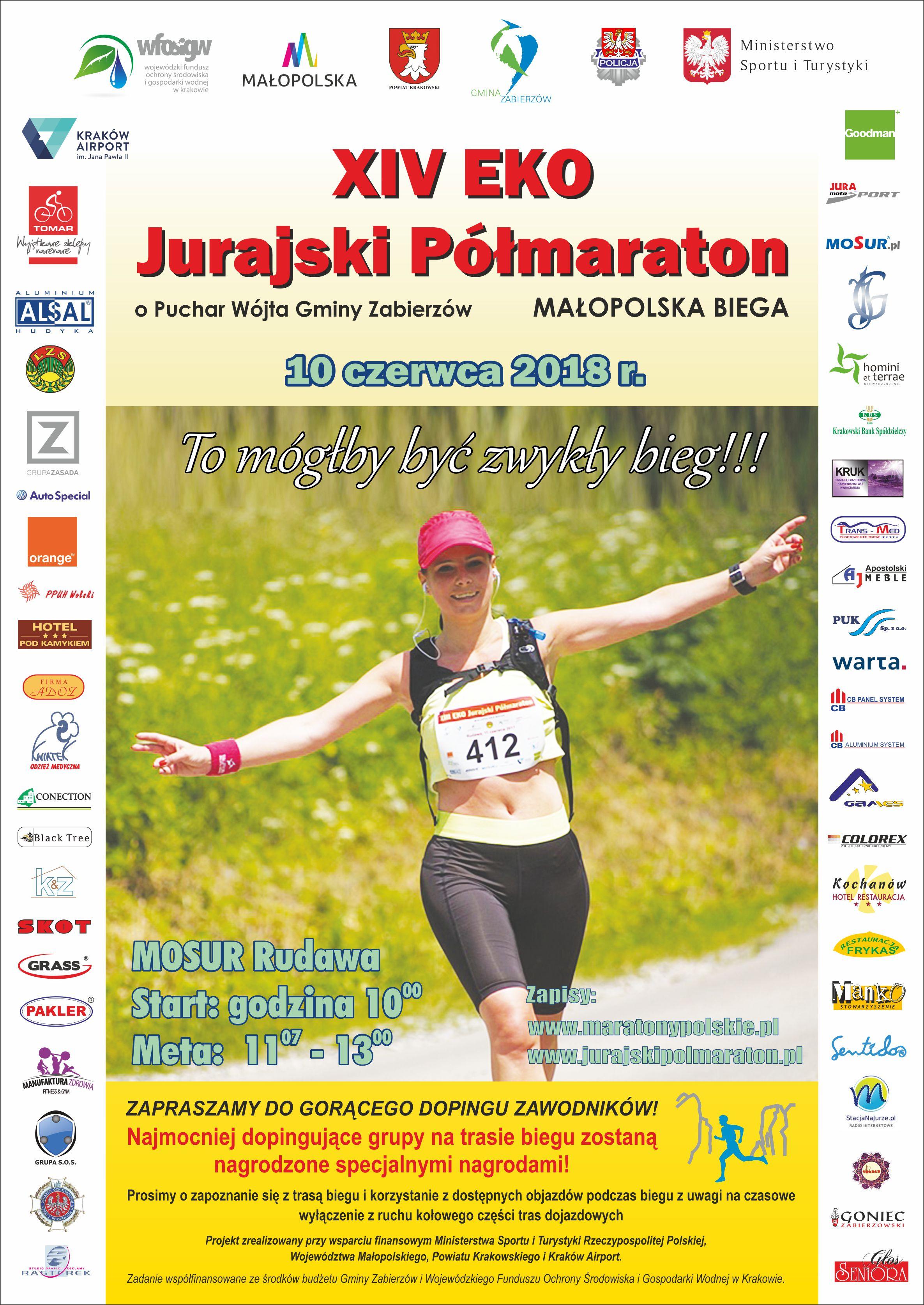XIV EKO Jurajski Półmaraton @ MOSUR Rudawa | Rudawa | małopolskie | Polska
