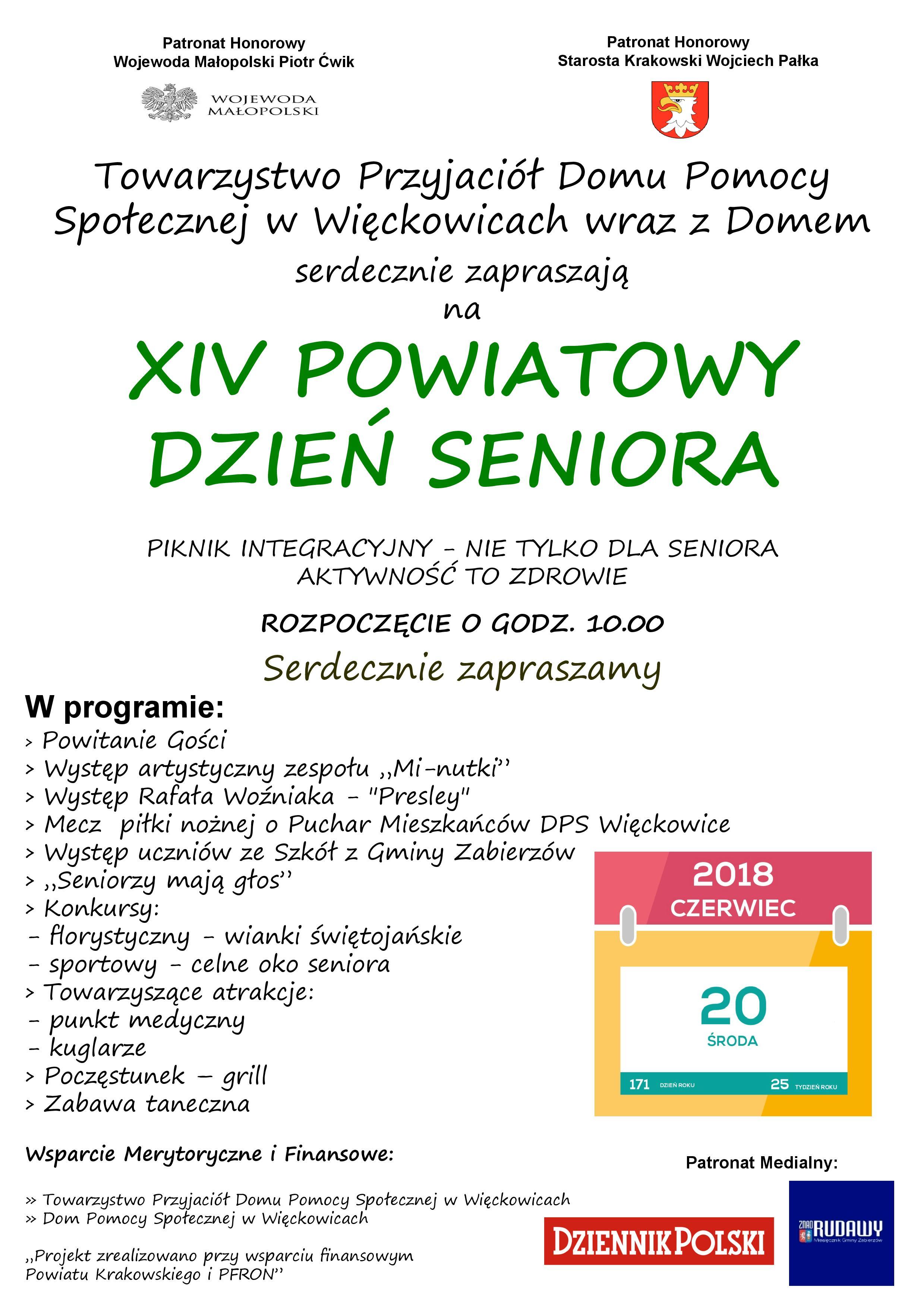XIV Powiatowy Dzień Seniora @ DPS Więckowice | Więckowice | małopolskie | Polska