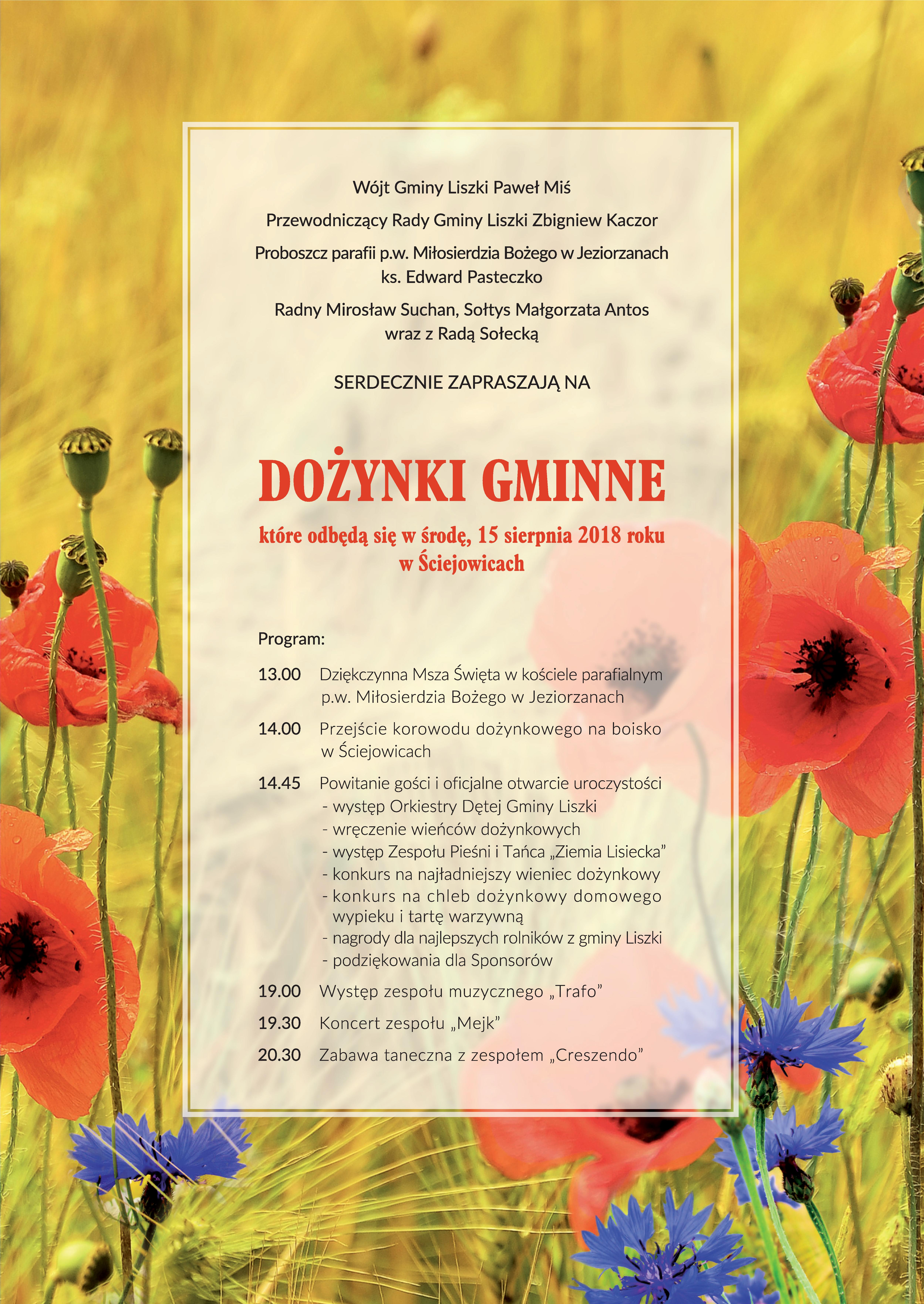 Dożynki Sciejowice - plakat