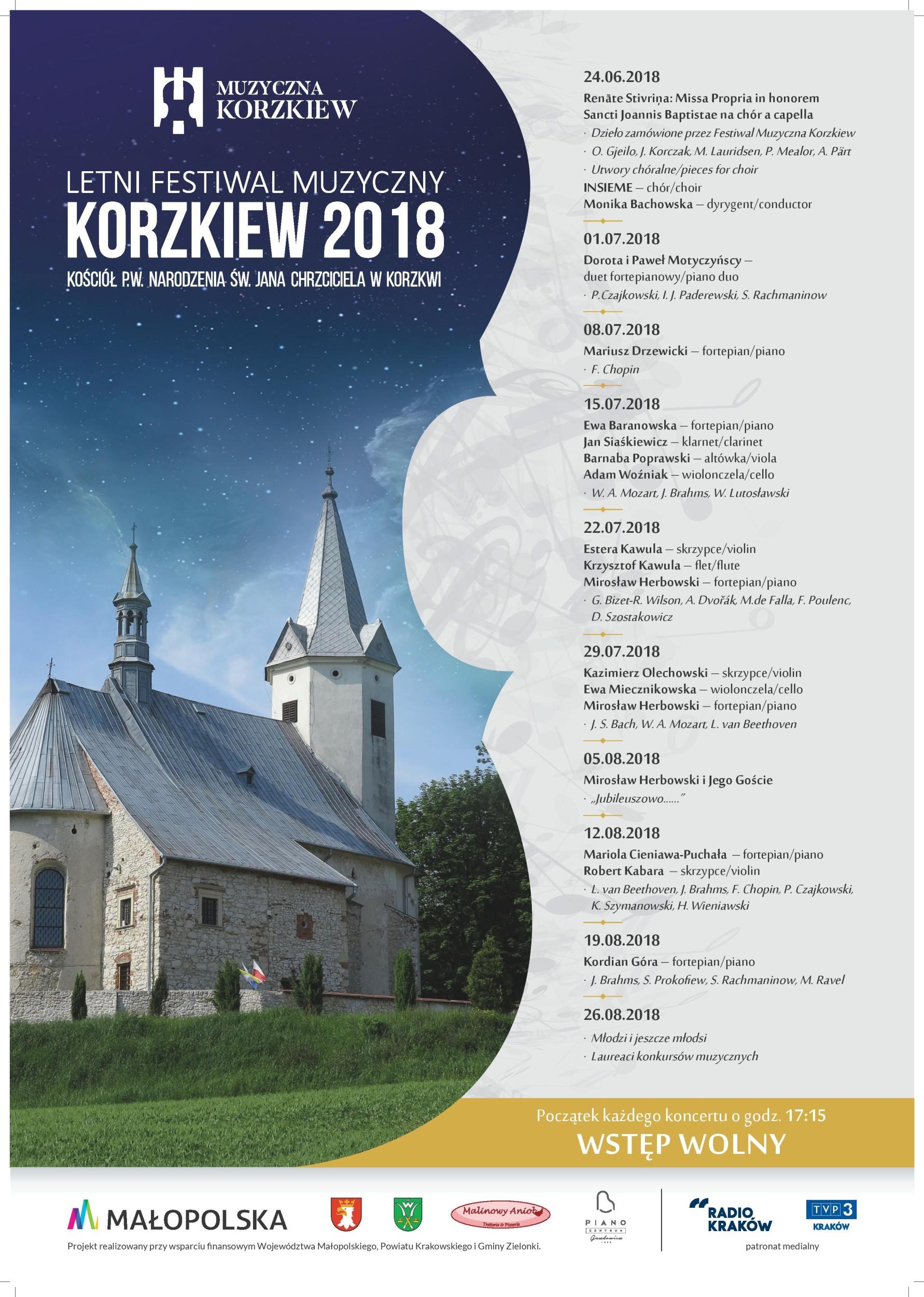 Letni Festiwal Muzyczny Korzkiew 2018 @ Korzkiew | małopolskie | Polska