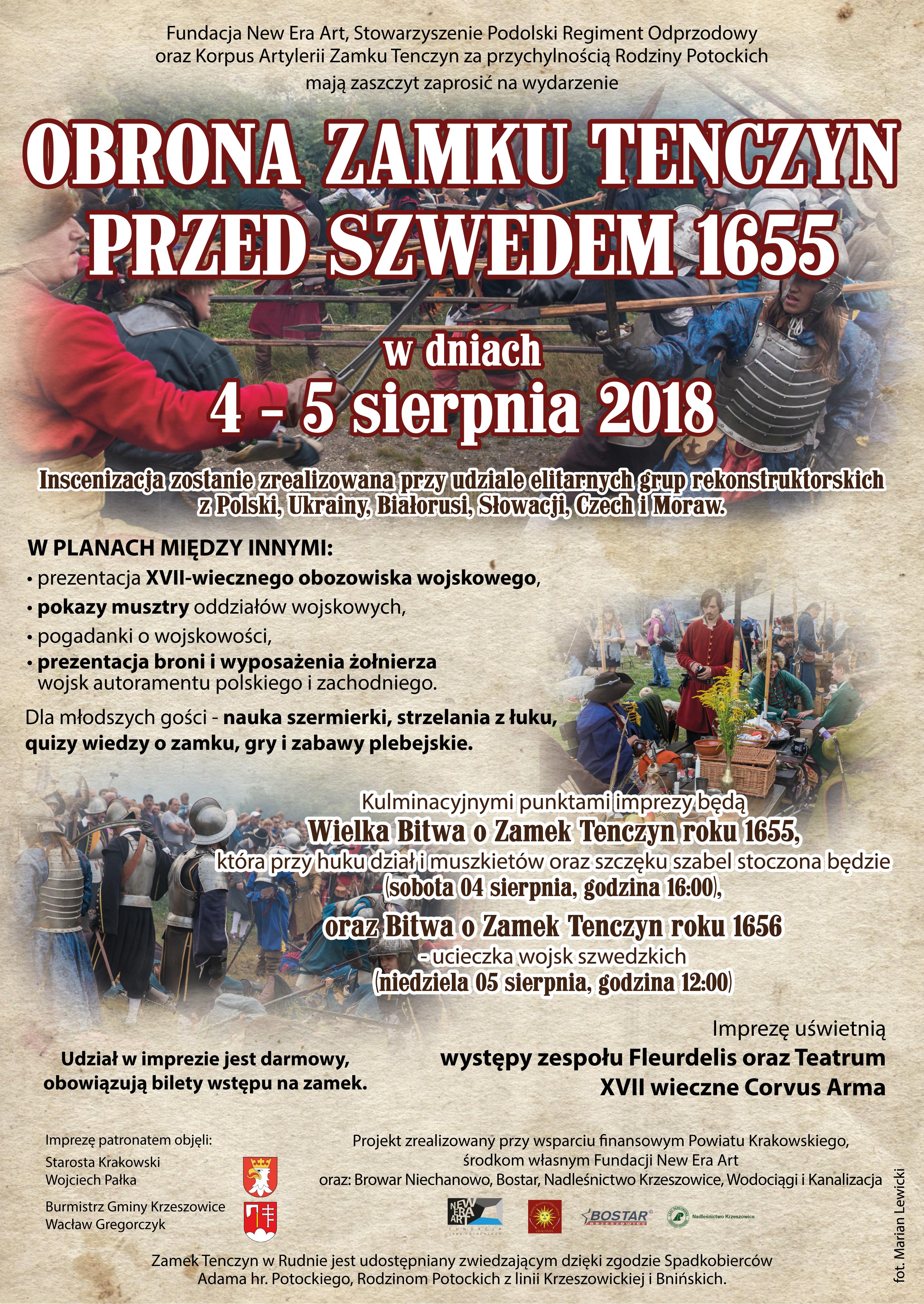 Obrona Zamku Tenczyn Przed Szwedem @ Zamek Tenczyn | Rudno | małopolskie | Polska