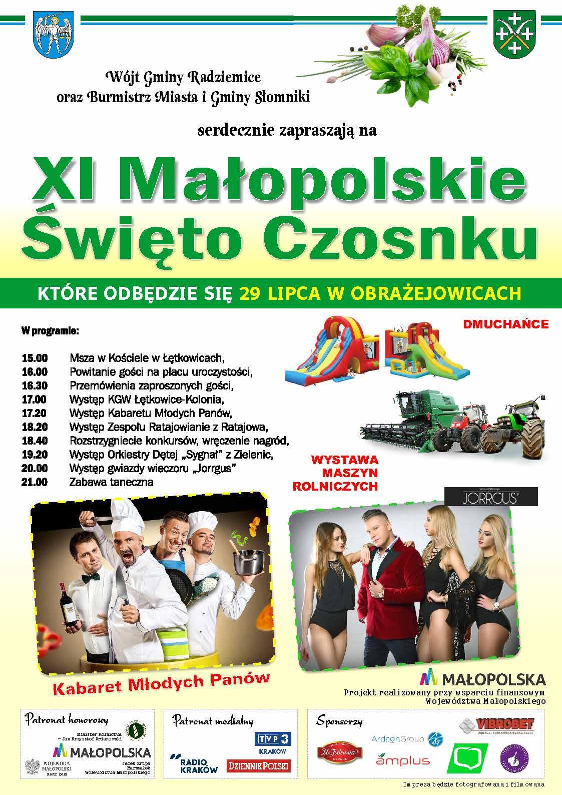 XI Małopolskie Święto Czosnku @ Obrażejowice | małopolskie | Polska