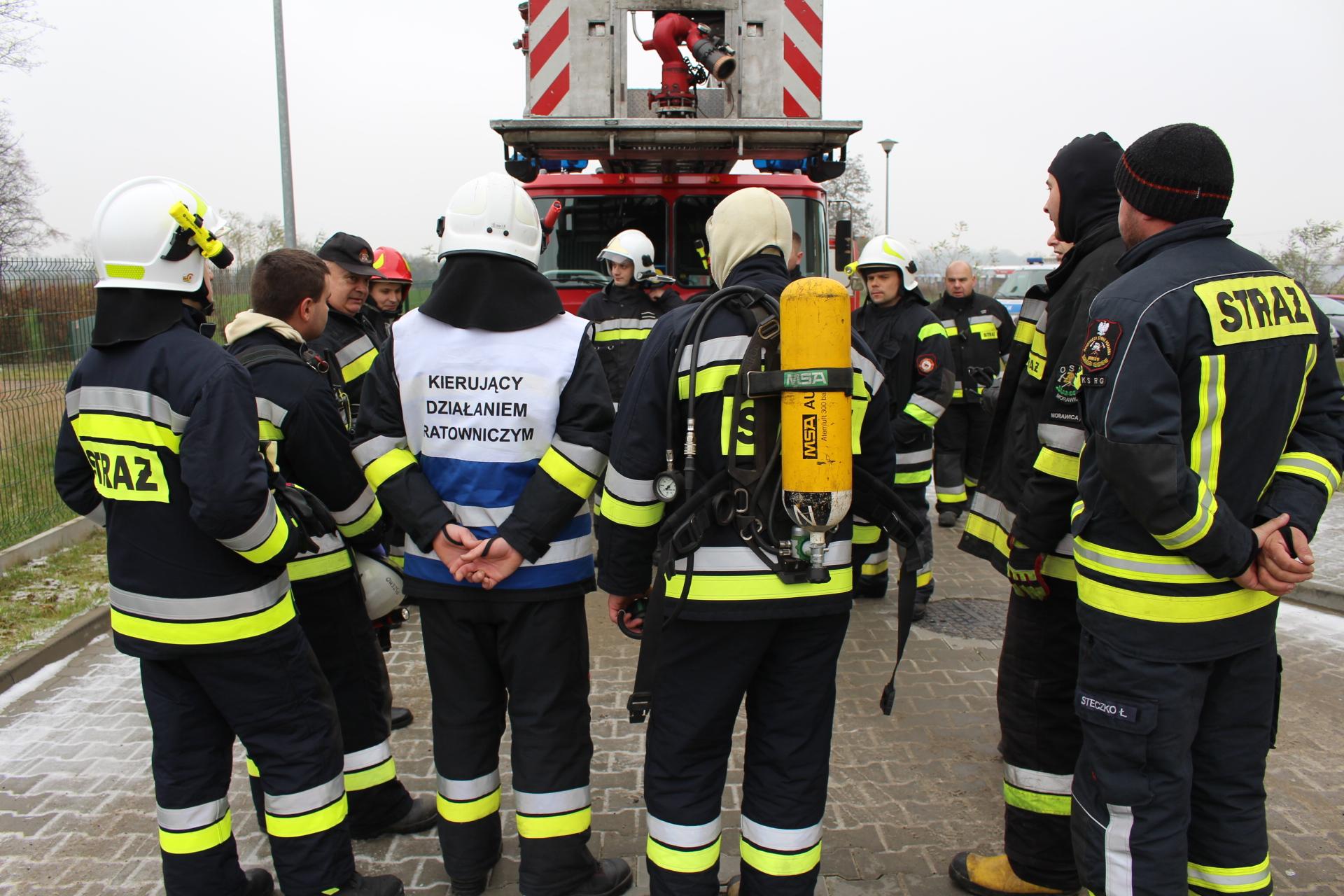 Ćwiczenia ewakuacji w Morawicy