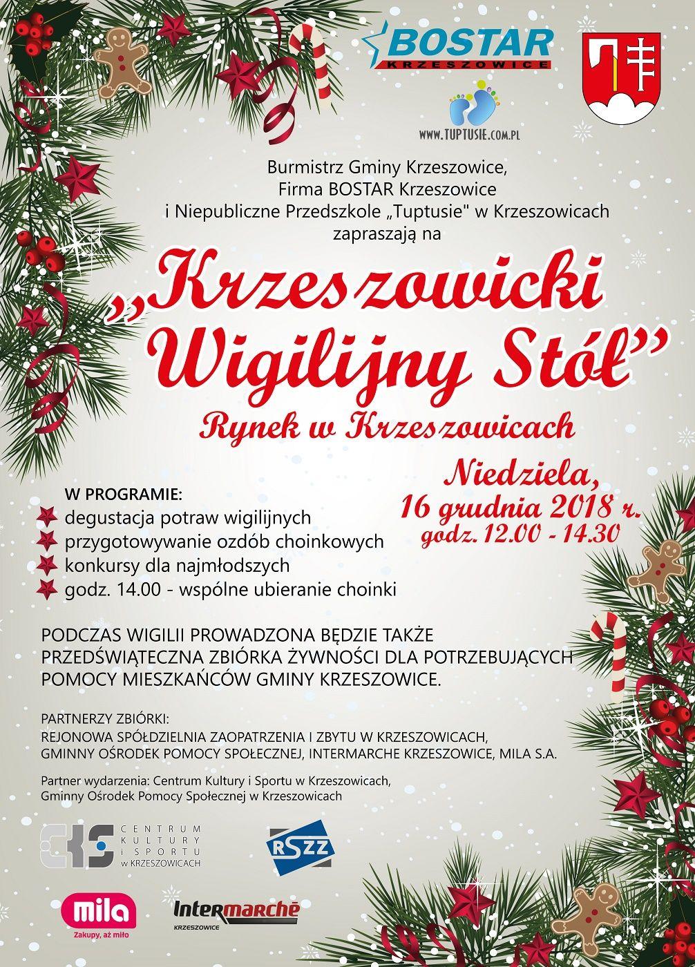 Krzeszowicki Wigilijny Stół @ Krzeszowice | małopolskie | Polska