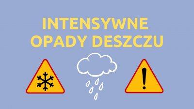 Ostrzeżenie - Intensywne opady deszczu