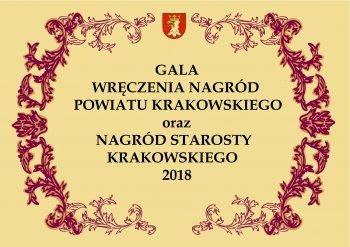 Reportaż z Gali wręczenia Nagród Powiatu Krakowskiego i Starosty Krakowskiego 2018
