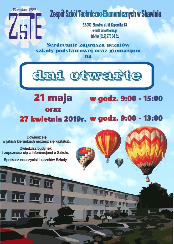Dni Otwarte w ZSTE w Skawinie @ Skawina | Polska