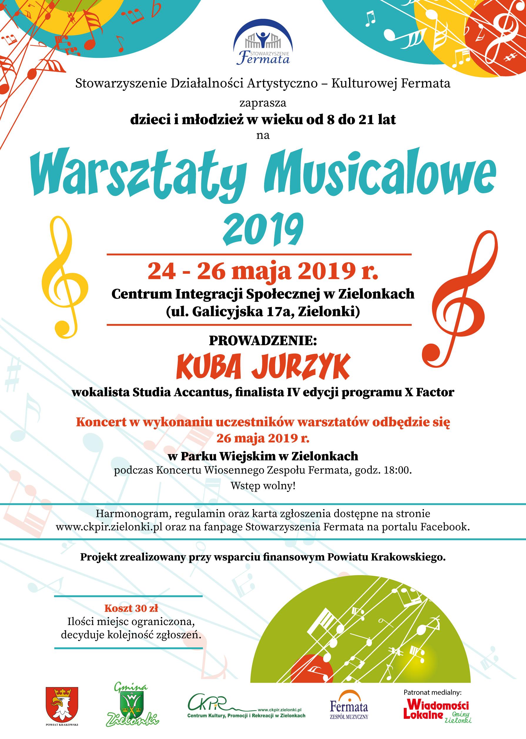 Warsztaty Musicalowe 2019 @ Centrum Integracji Społecznej w Zielonkach | Zielonki | małopolskie | Polska