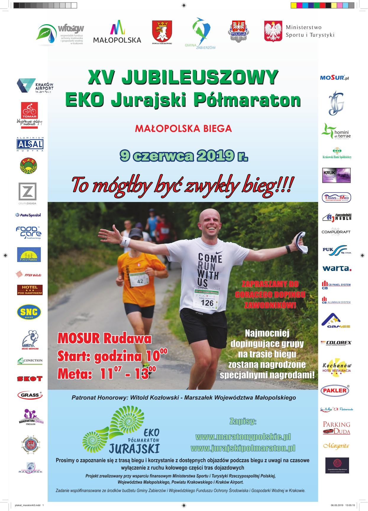 XV Jubileuszowy EKO Jurajski Półmaraton @ MOSUR | Rudawa | małopolskie | Polska