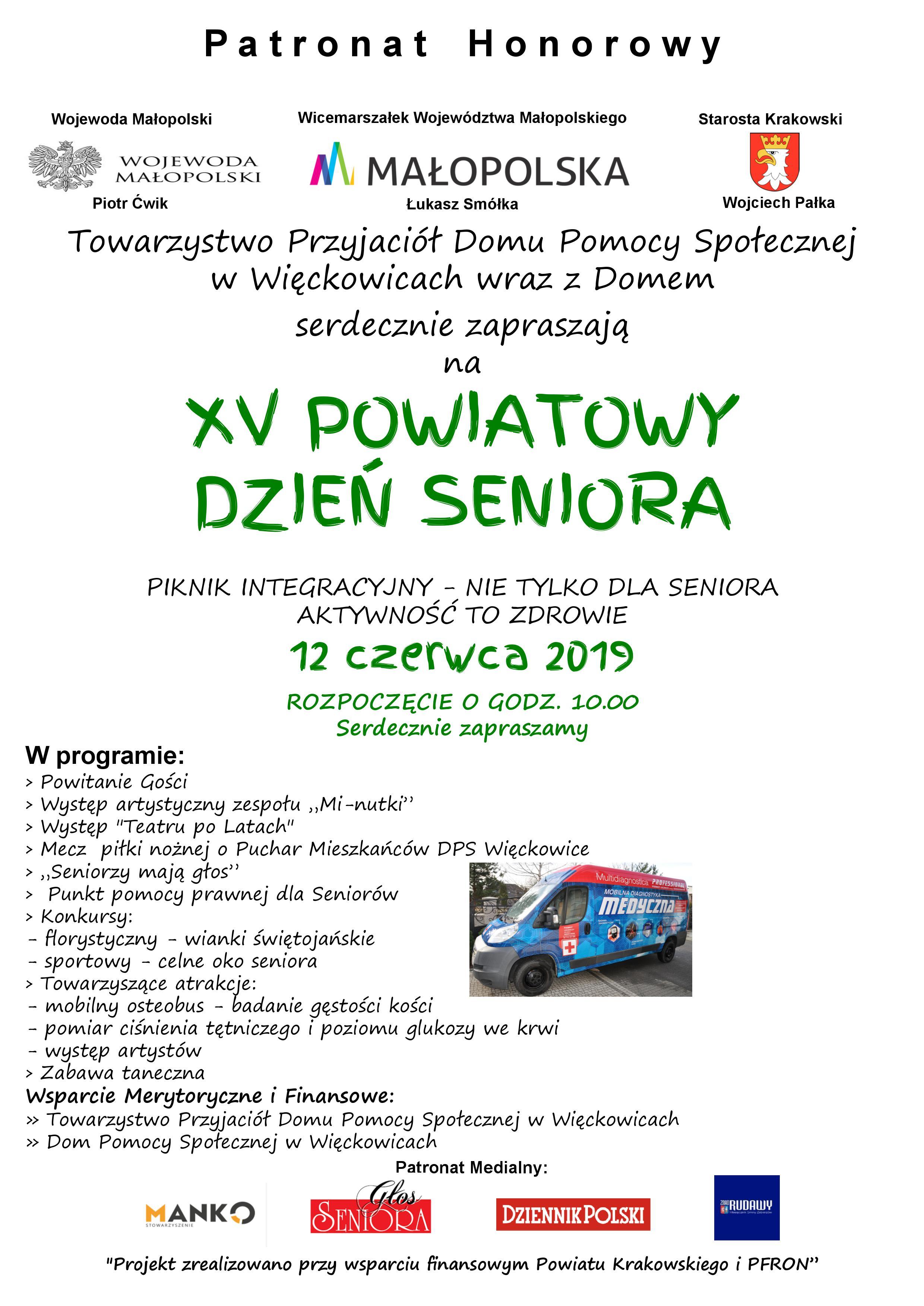 XV Powiatowy Dzień Seniora @ Dom Pomocy Społecznej | Więckowice | małopolskie | Polska