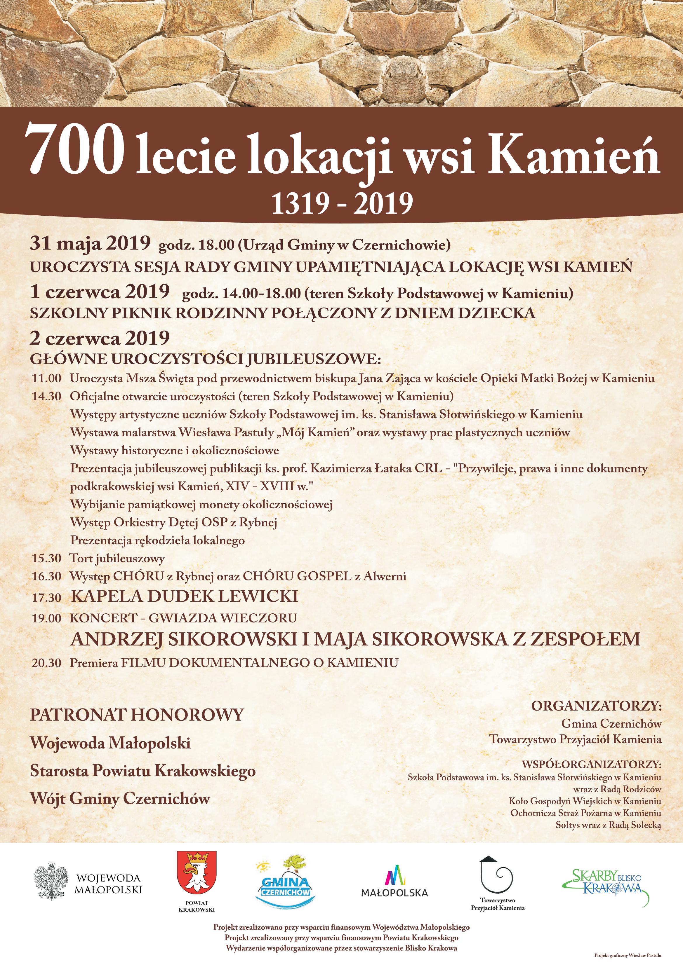 700 lecie lokacji wsi Kamień