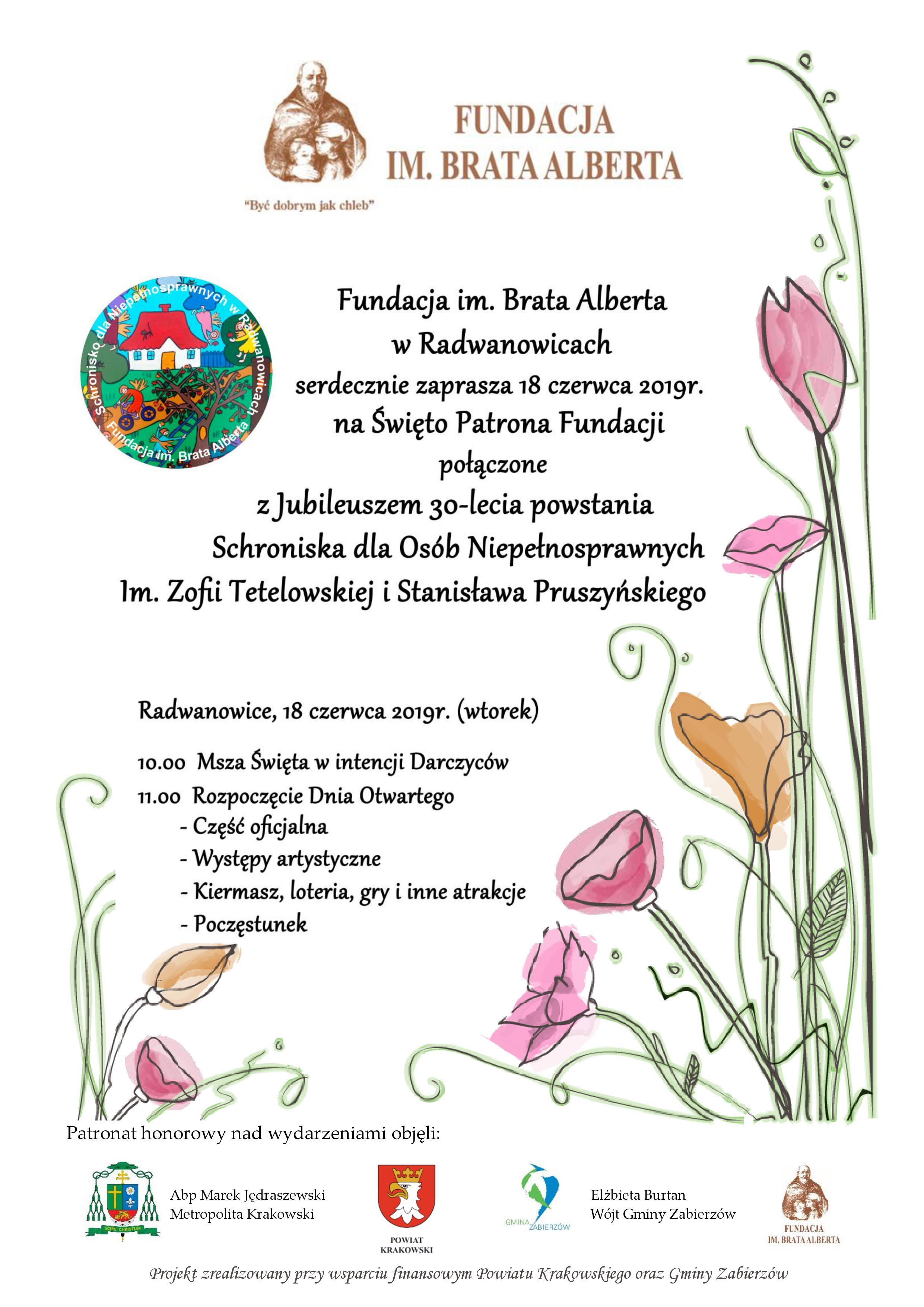 Święto Patrona Fundacji i 30-lecie powstania Schroniska dla Osób Niepełnosprawnych @ Radwanowice | małopolskie | Polska