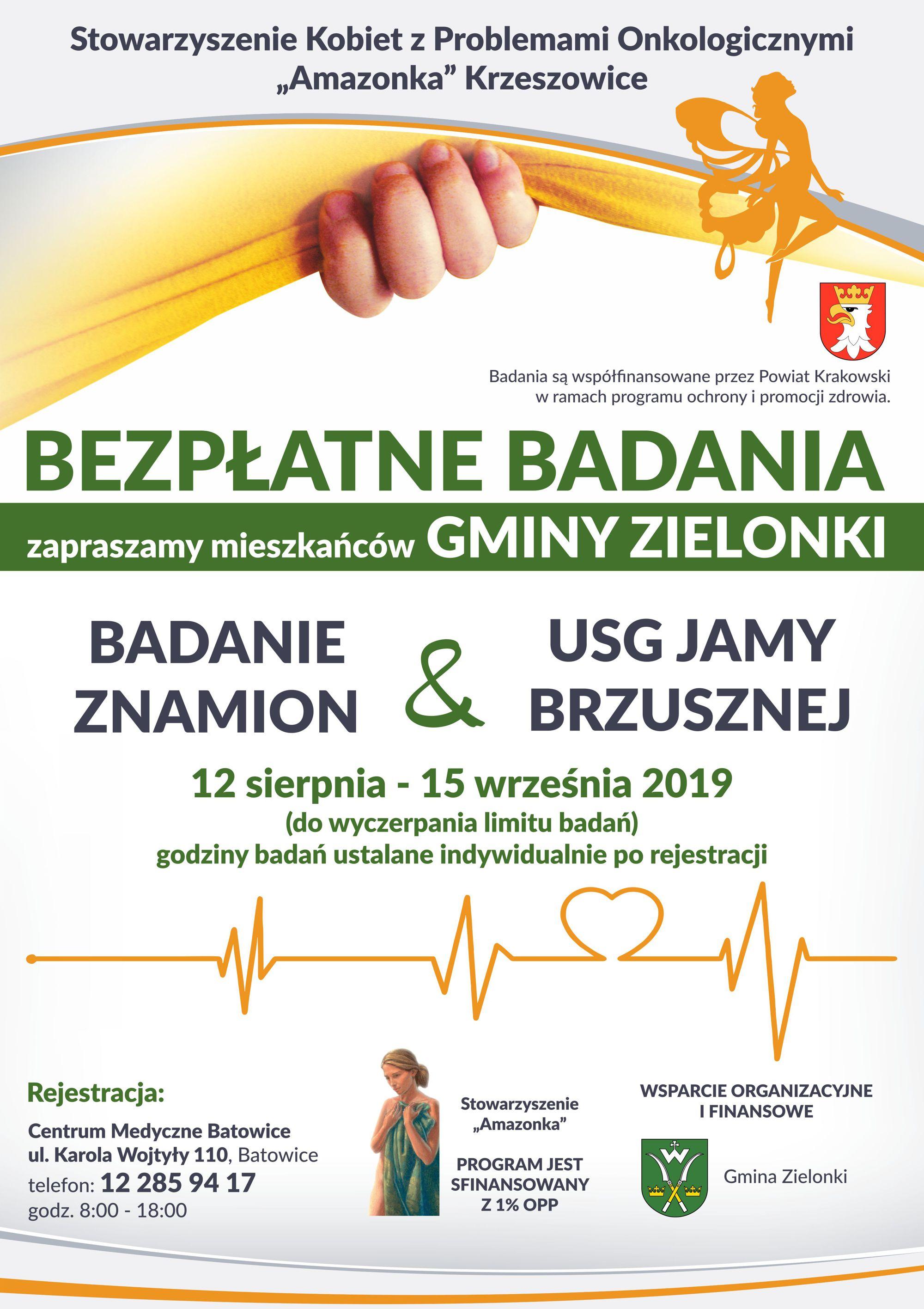 Bezpłatne badania w gminie Zielonki @ Centrum Medyczne Batowice | Batowice | małopolskie | Polska