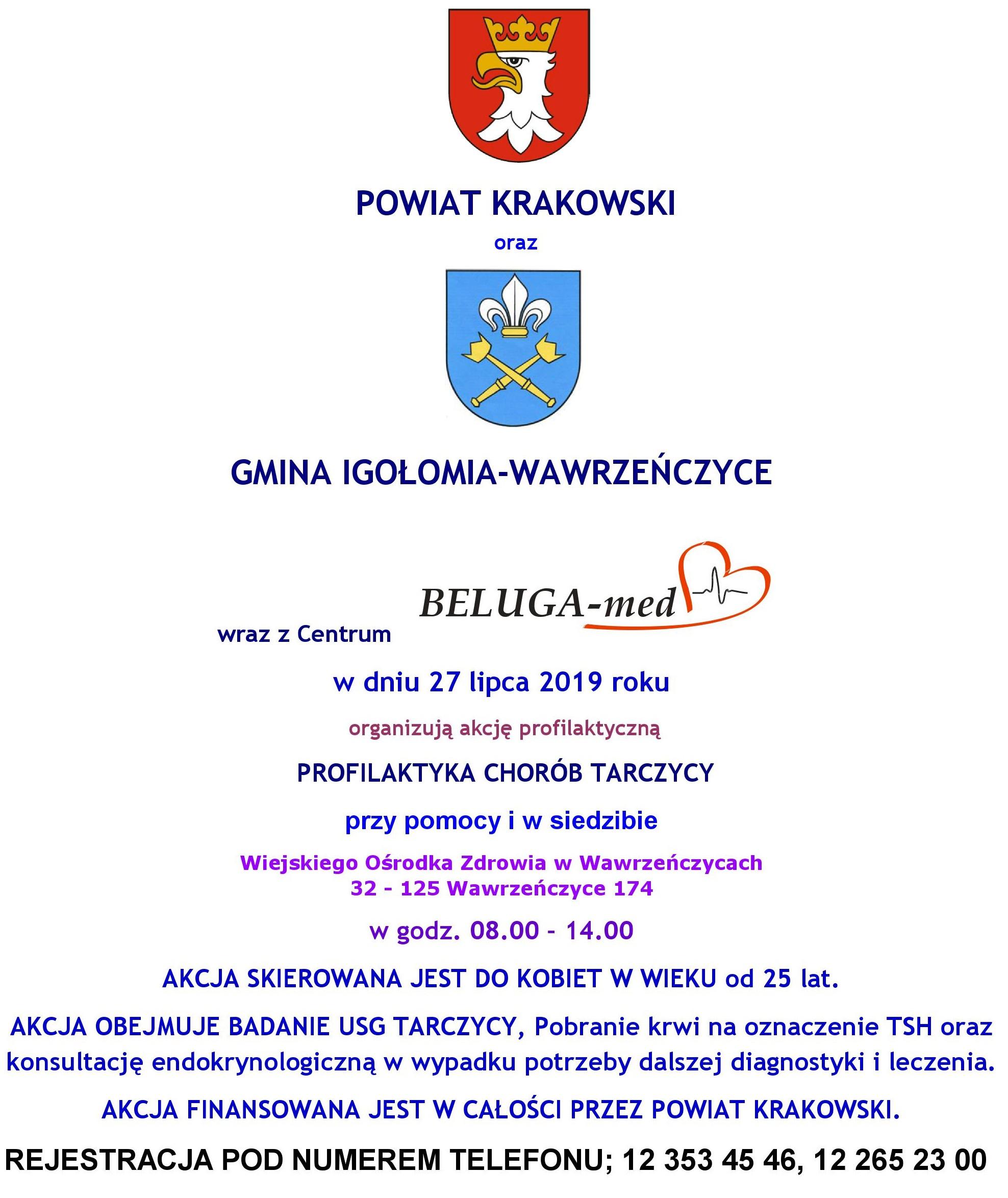 Akcja zdrowotna - Profilaktyka chorób tarczycy @ Wawrzeńczyce | małopolskie | Polska