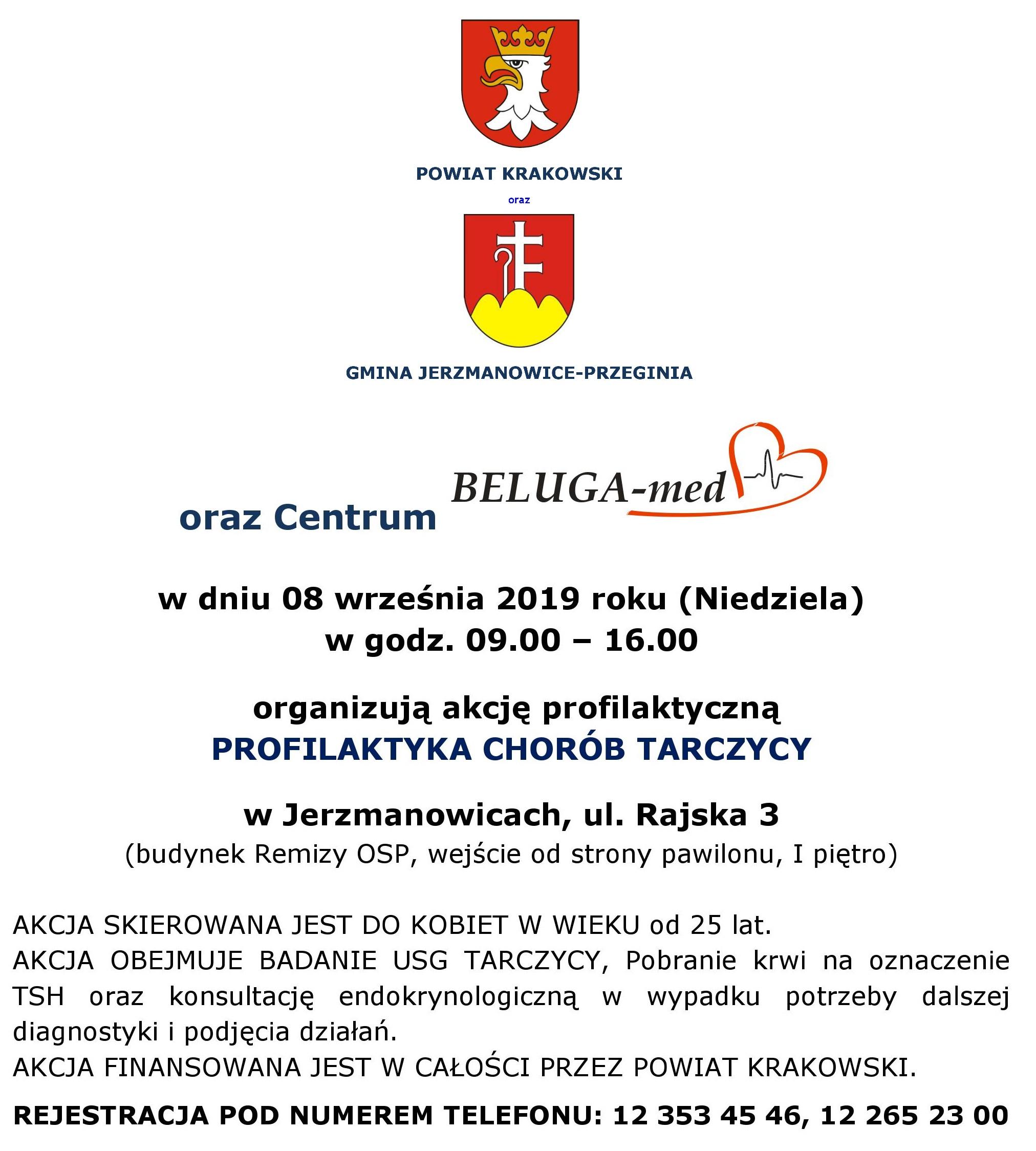 Akcja zdrowotna - Profilaktyka chorób tarczycy @ Budynek Remizy OSP | Jerzmanowice | małopolskie | Polska